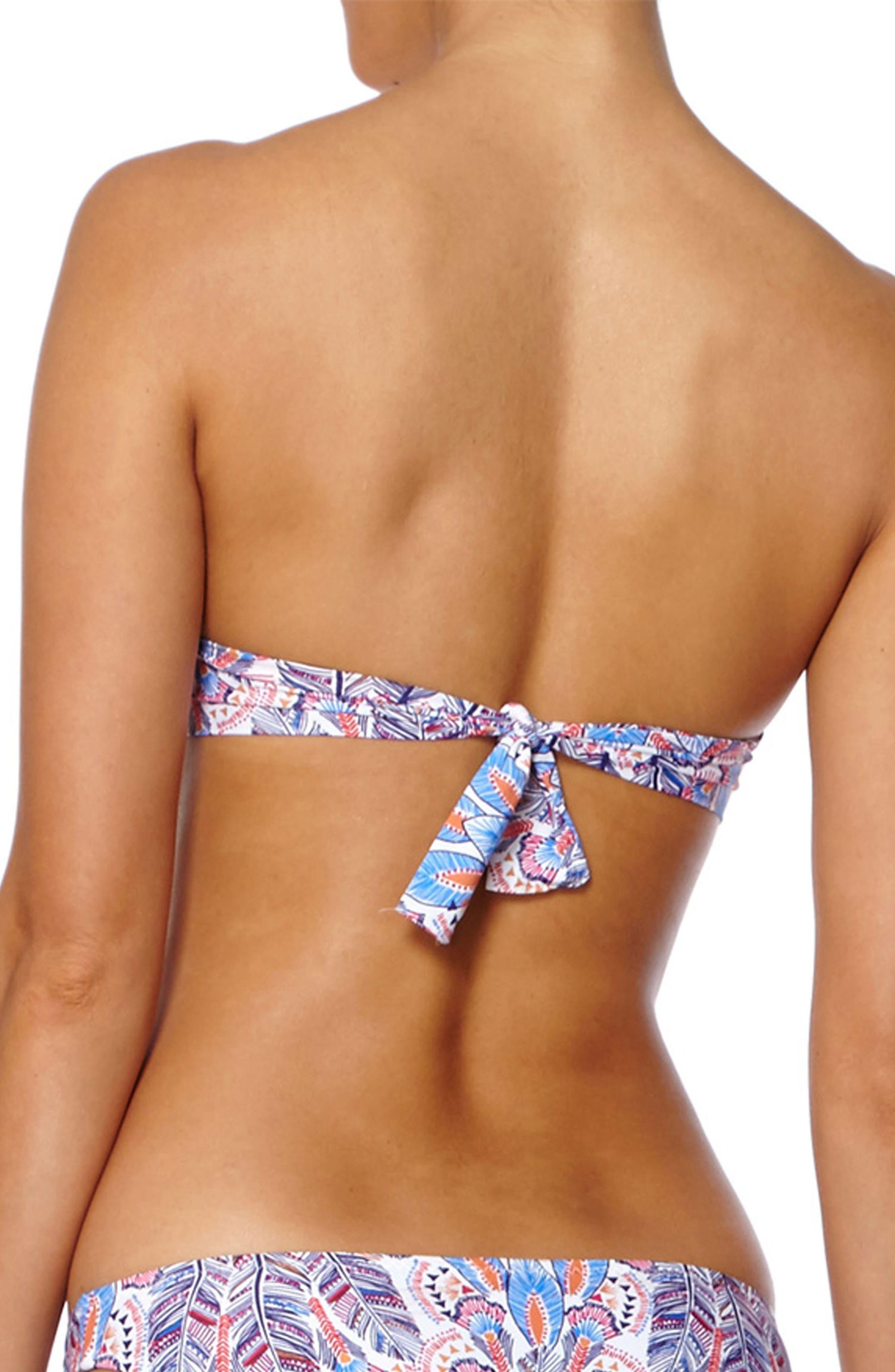 Martinique Bandeau Bikini Top,                             Alternate thumbnail 2, color,                             FEATHERS