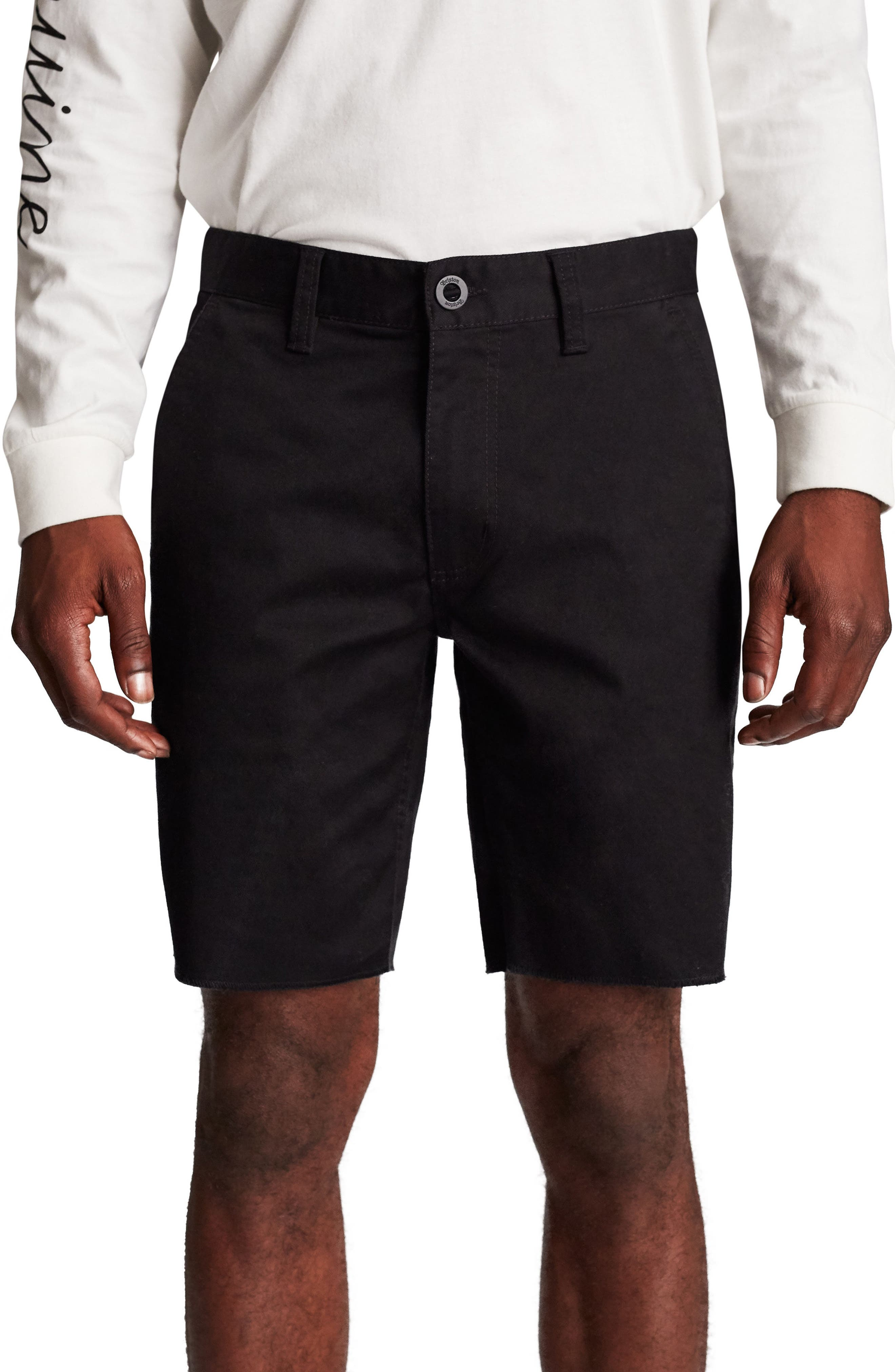 Toil II Chino Shorts,                         Main,                         color, BLACK