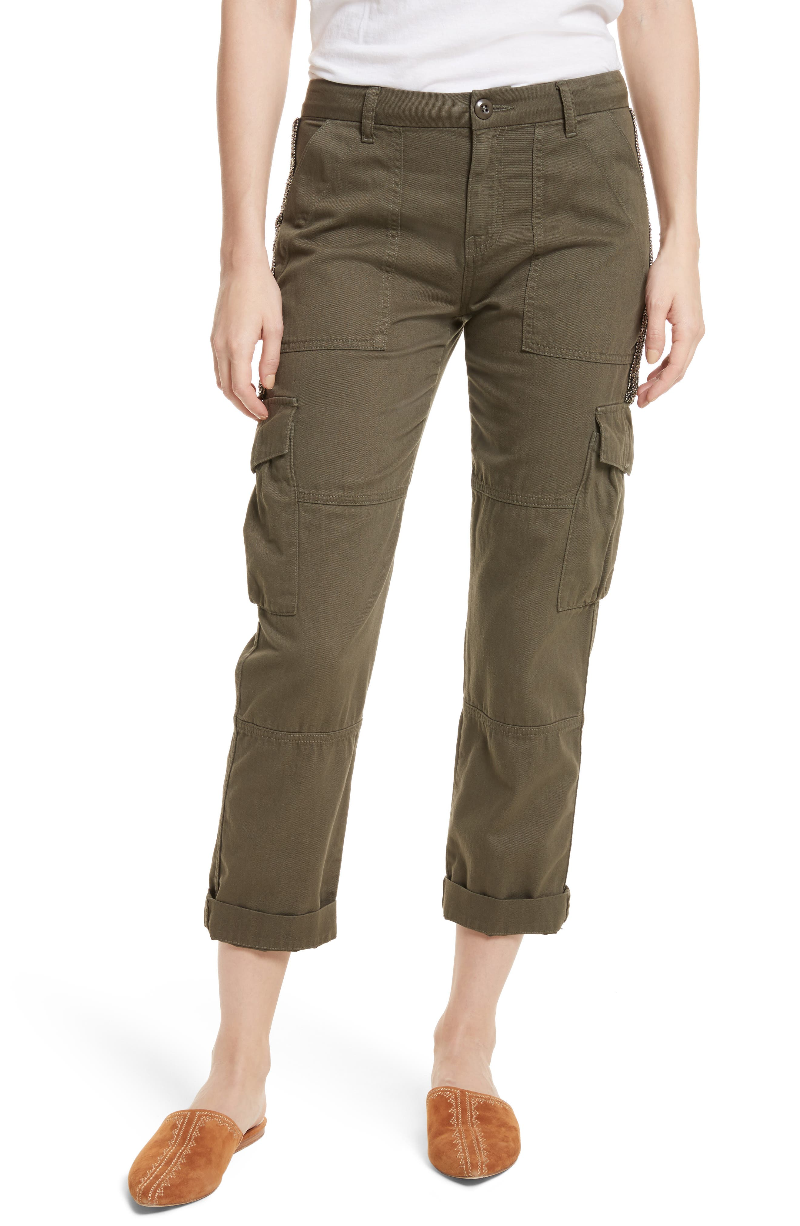 Embellished Cargo Pants,                         Main,                         color,