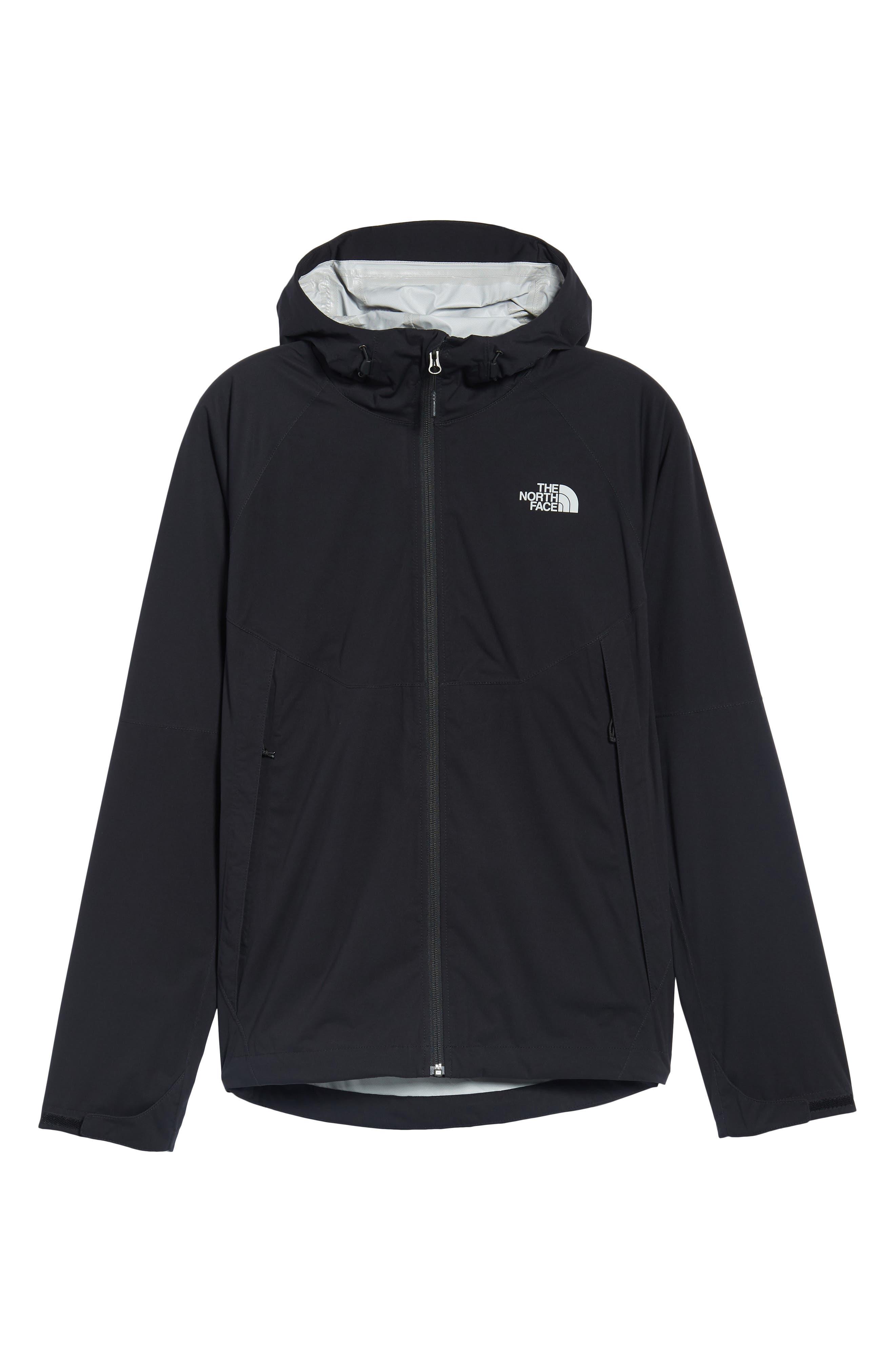 Allproof Stretch Hooded Rain Jacket,                             Alternate thumbnail 6, color,                             TNF BLACK