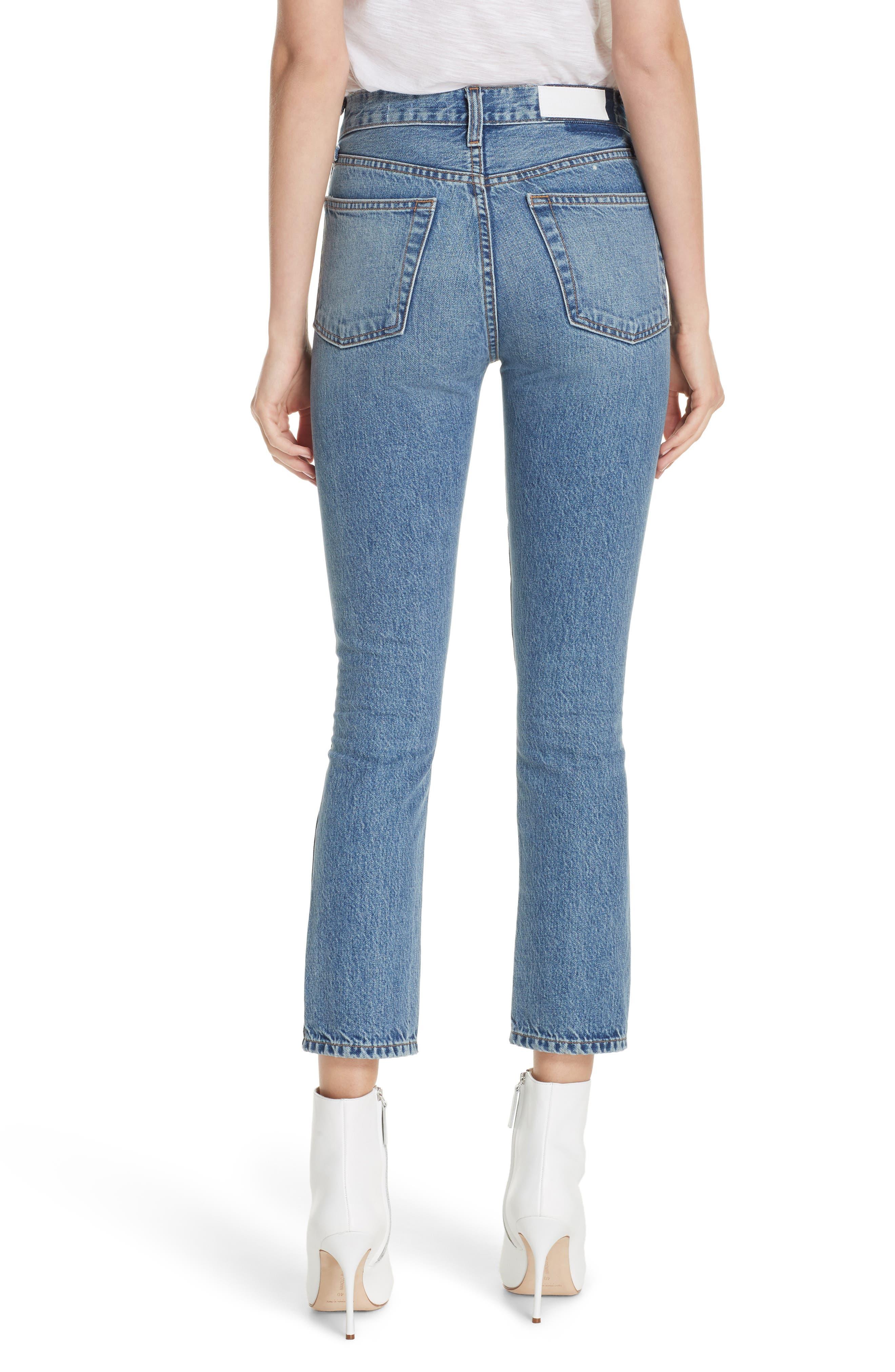 Originals High Waist Double Needle Ankle Jeans,                             Alternate thumbnail 2, color,                             400