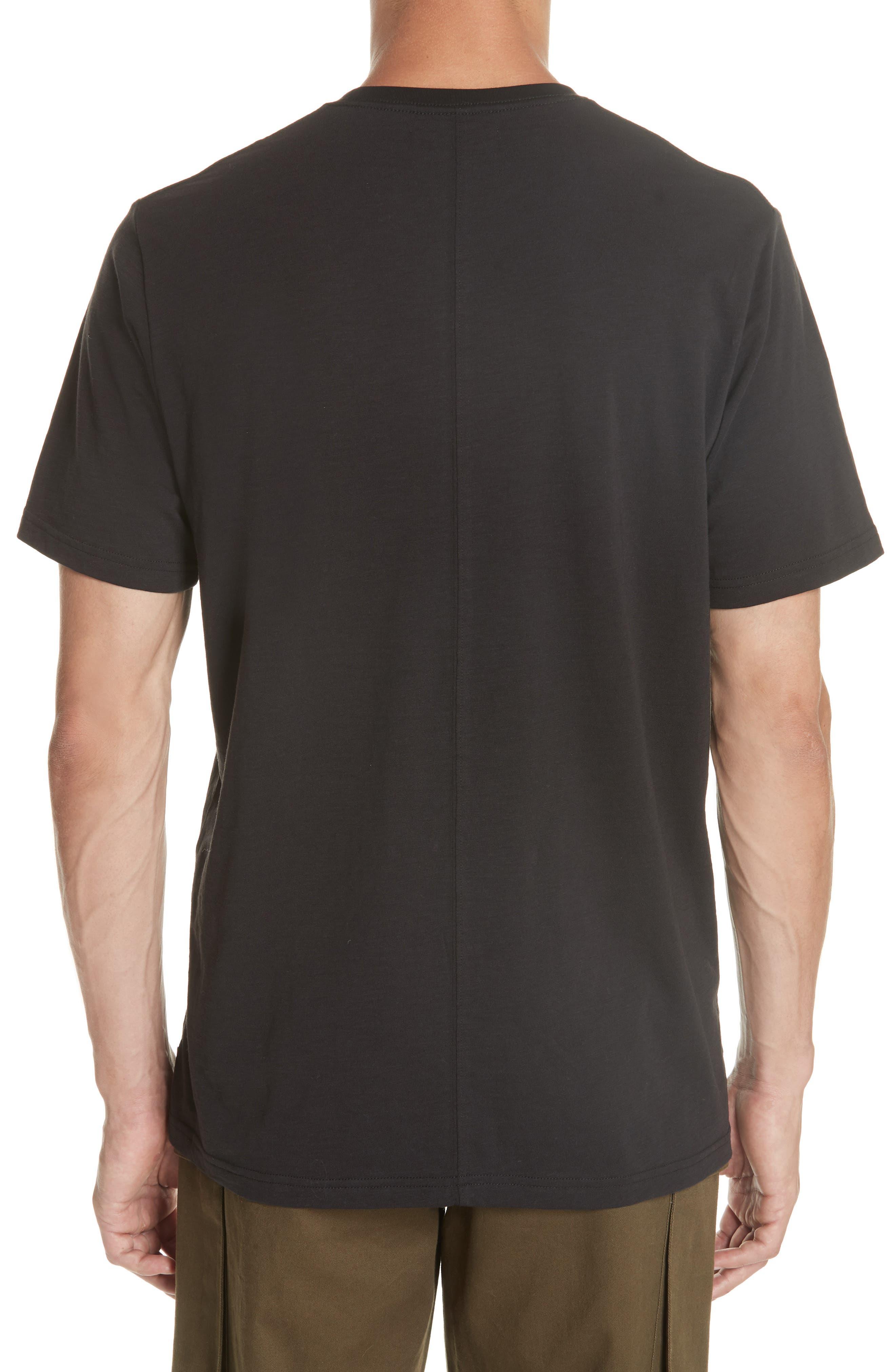 Panic Reversible Graphic T-Shirt,                             Alternate thumbnail 3, color,                             BLACK