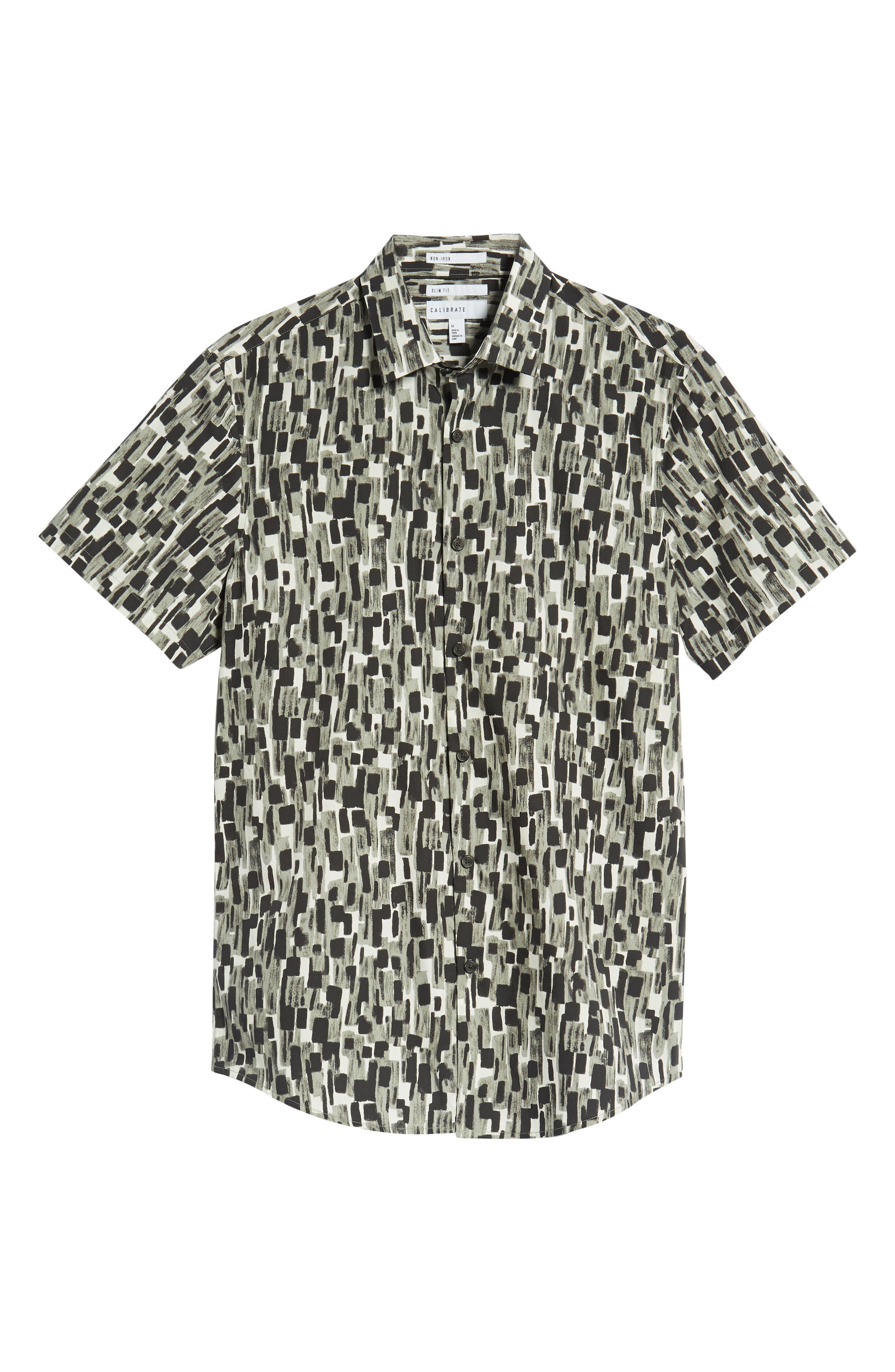 Mini Collar Print Sport Shirt,                             Alternate thumbnail 5, color,                             050