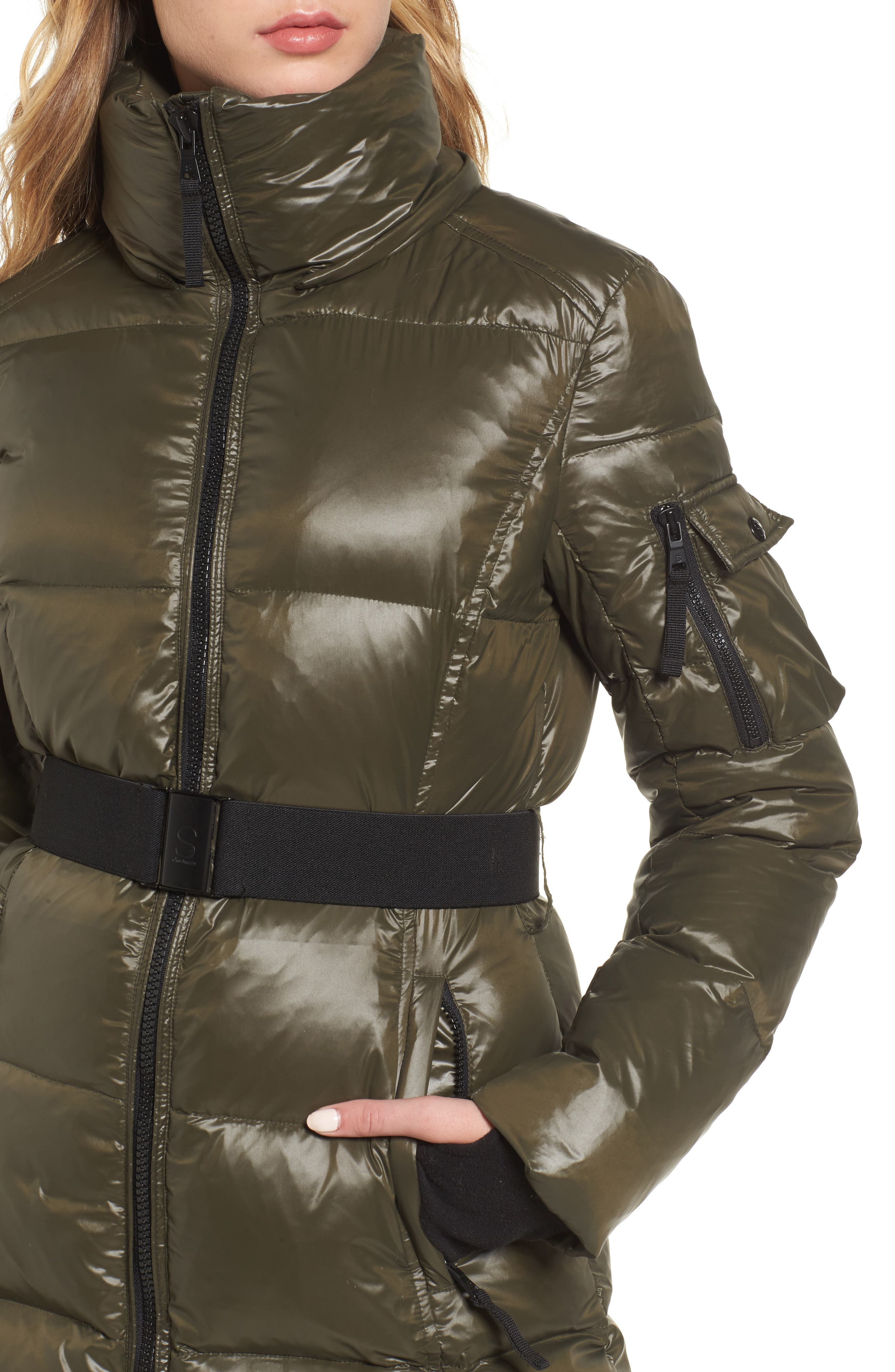 S13 'Nicky' Quilted Coat with Removable Faux Fur Trimmed Hood,                             Alternate thumbnail 4, color,                             304