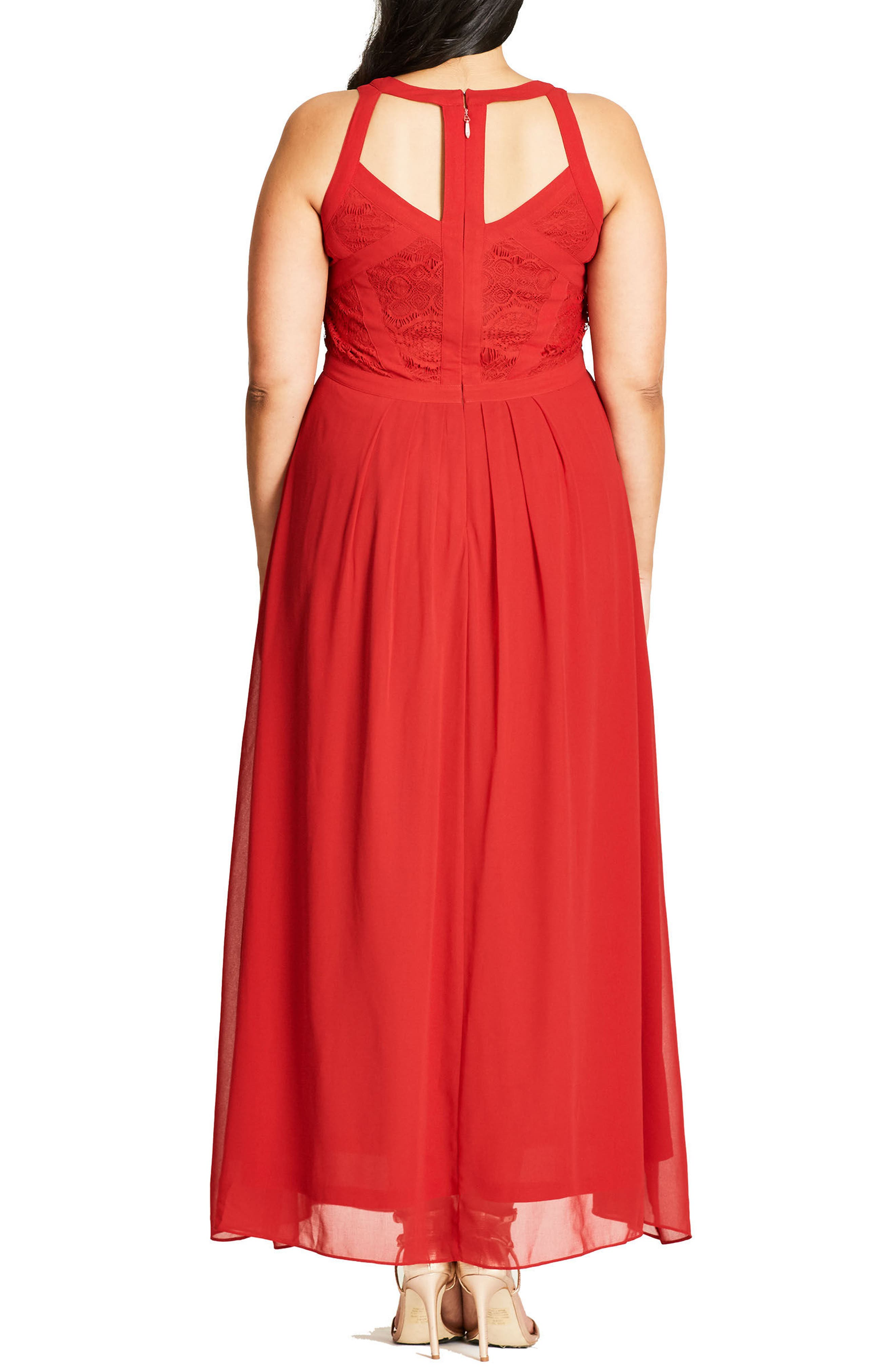 Paneled Lace Bodice Gown,                             Alternate thumbnail 21, color,