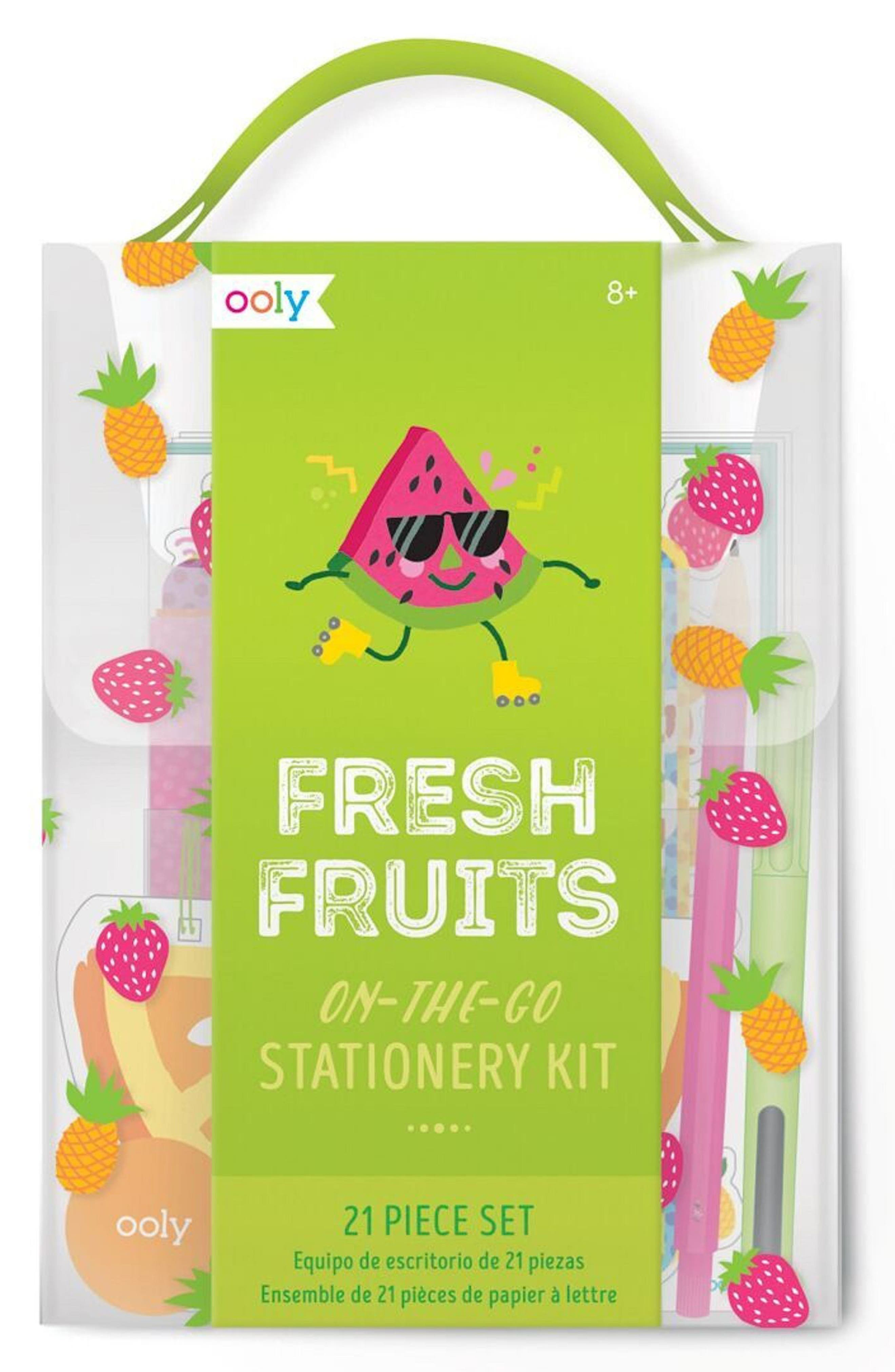 Ooly Fresh Fruit Travel Stationary Kit,                             Main thumbnail 1, color,                             300