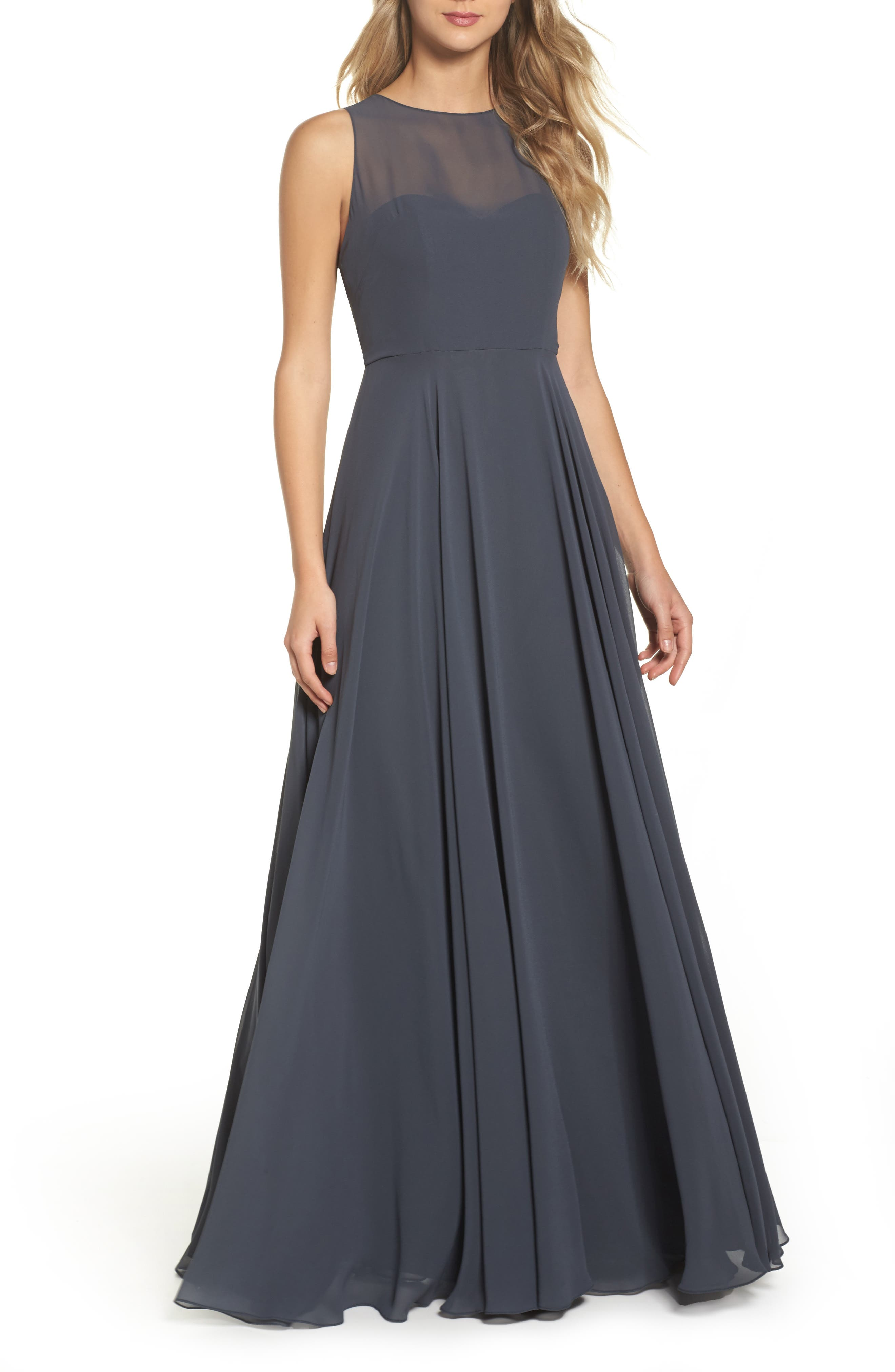 Elizabeth Chiffon Gown,                         Main,                         color, 026