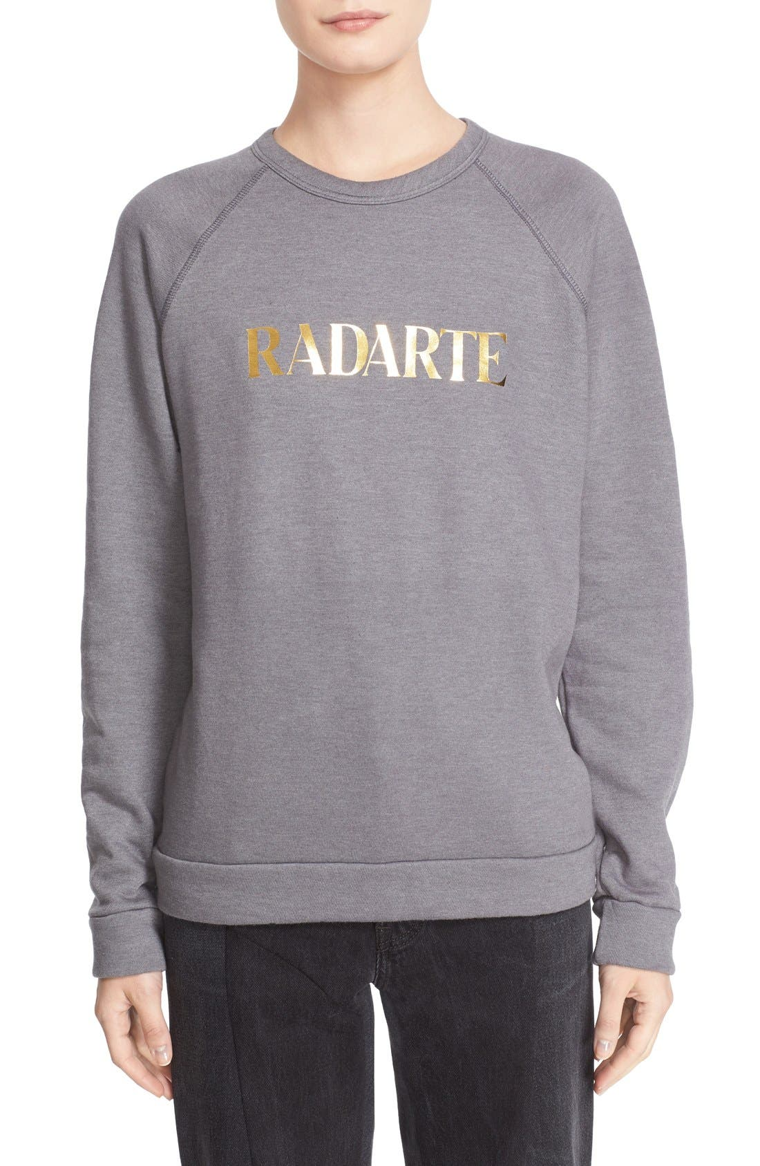 'Radarte' Foil Sweatshirt,                             Main thumbnail 1, color,                             022