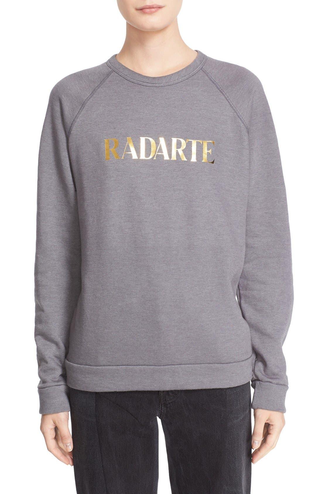 'Radarte' Foil Sweatshirt, Main, color, 022