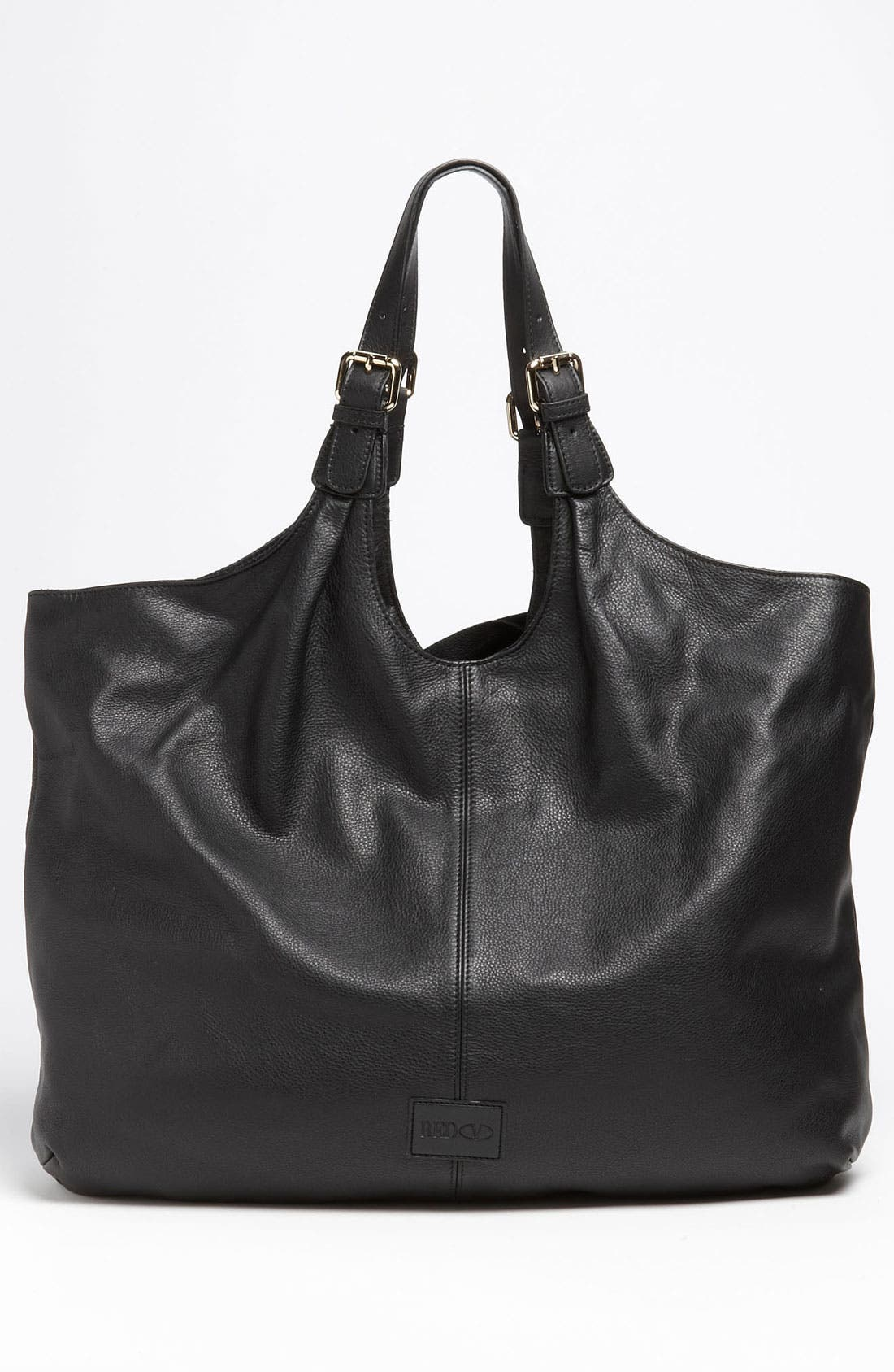 'Bow' Leather Hobo,                             Alternate thumbnail 3, color,                             002