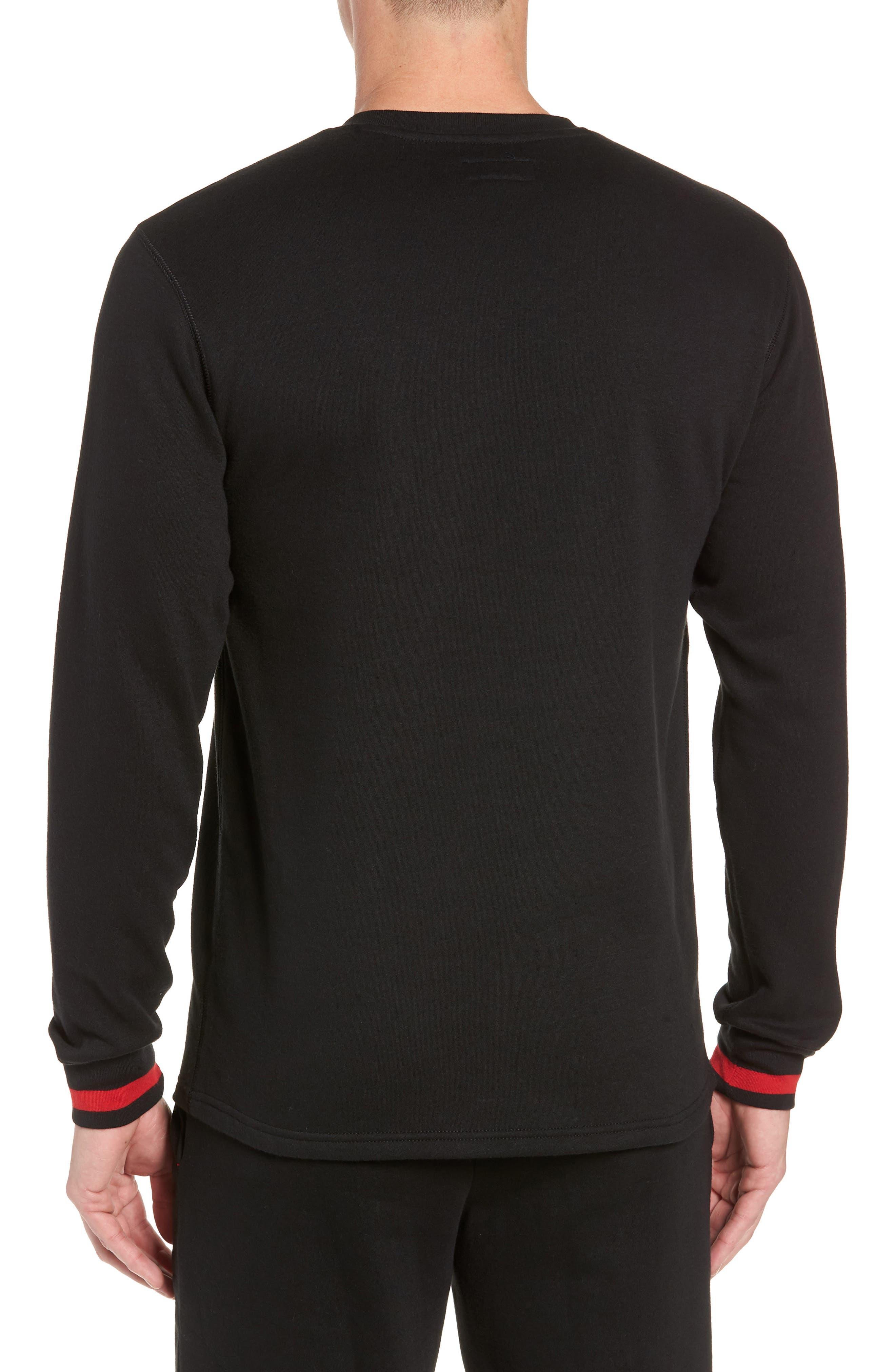 POLO RALPH LAUREN,                             Brushed Jersey Cotton Blend Crewneck Sweatshirt,                             Alternate thumbnail 2, color,                             POLO BLACK