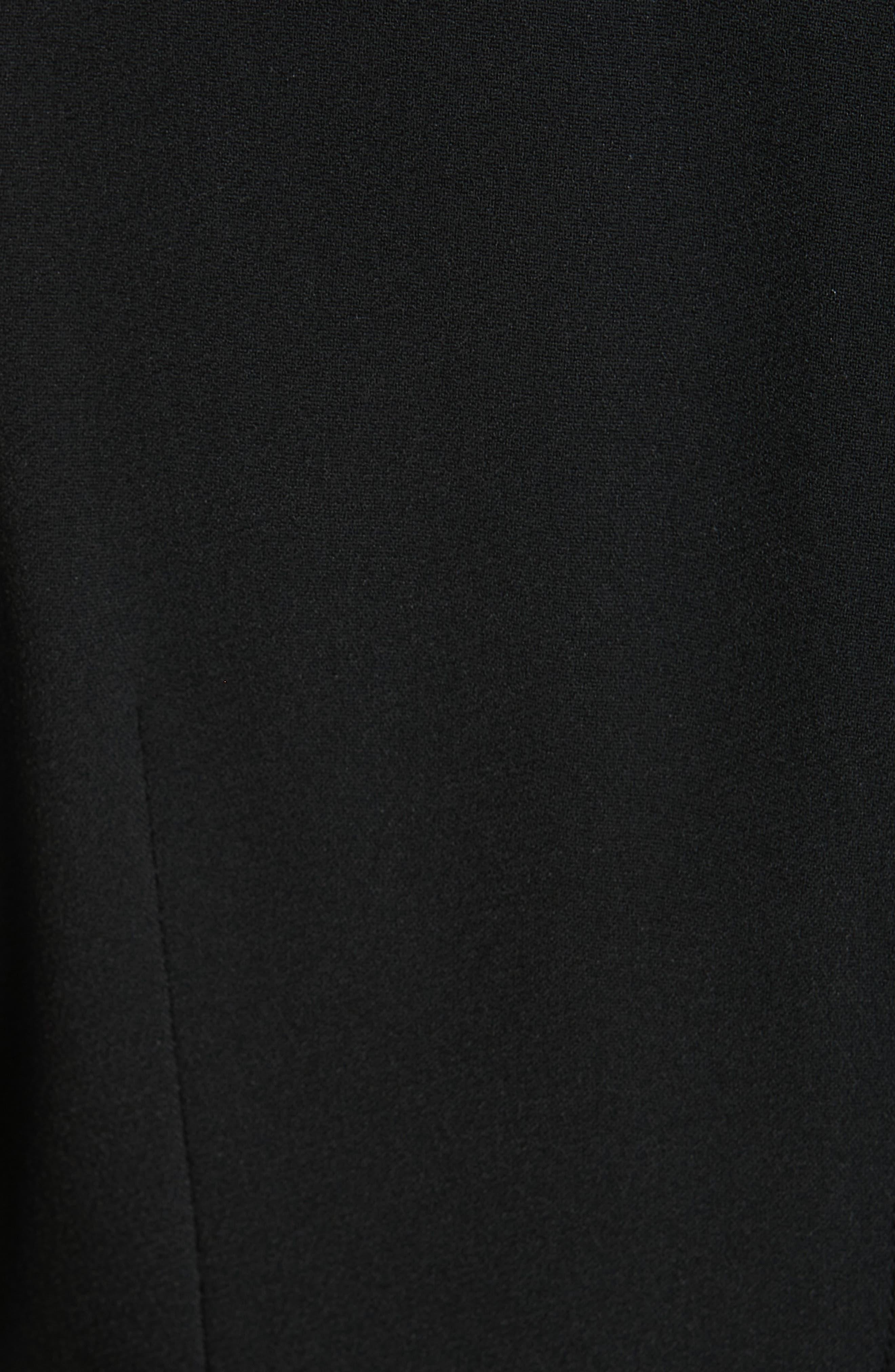 Surplice Dress,                             Alternate thumbnail 6, color,                             BLACK