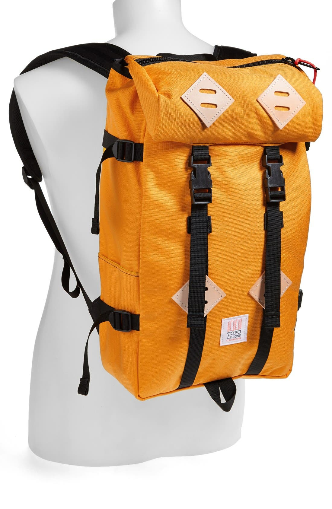 'Klettersack' Backpack,                             Alternate thumbnail 3, color,                             SAFFRON