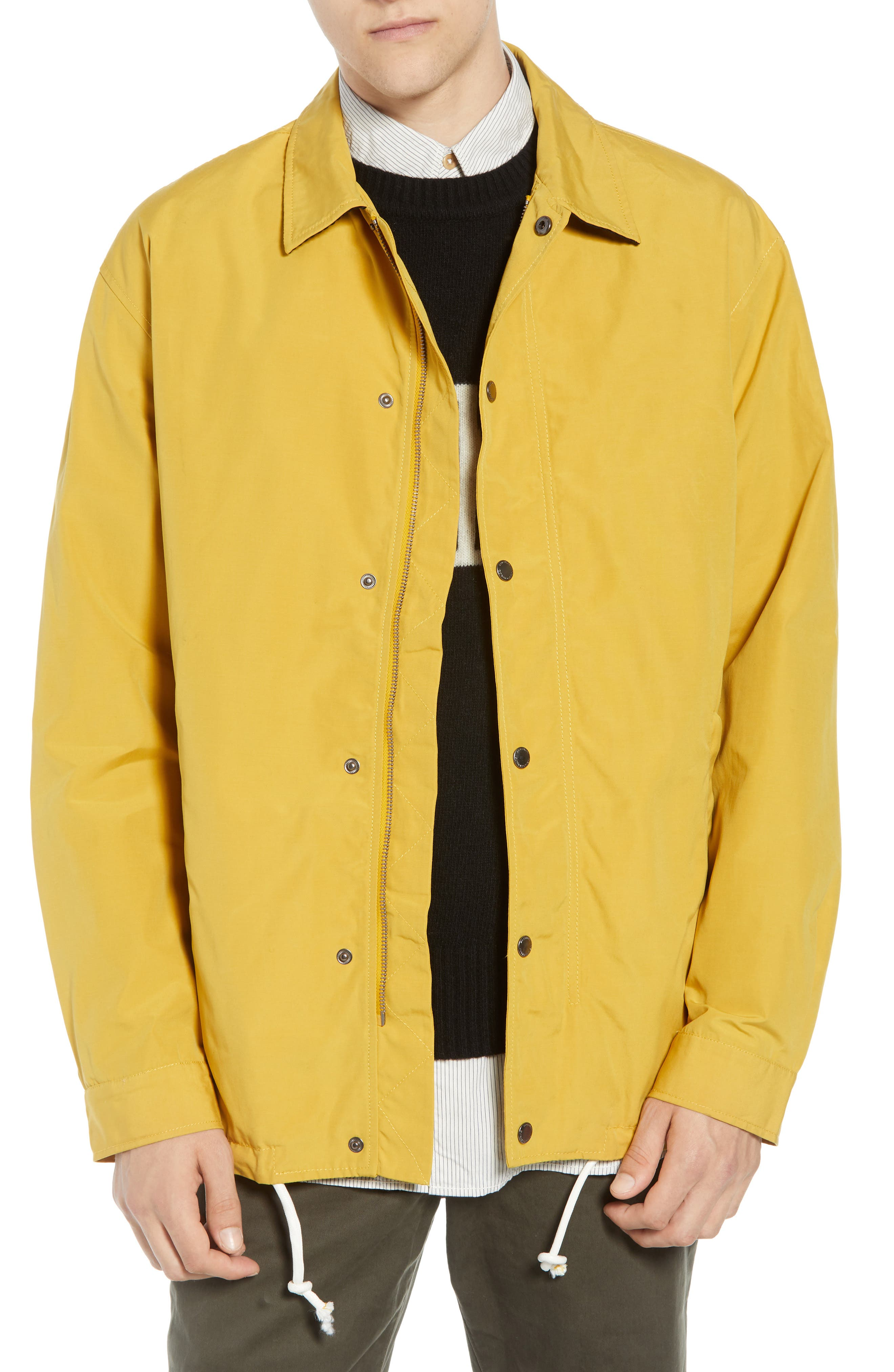 FRENCH CONNECTION Waxed Coach's Jacket, Main, color, 700