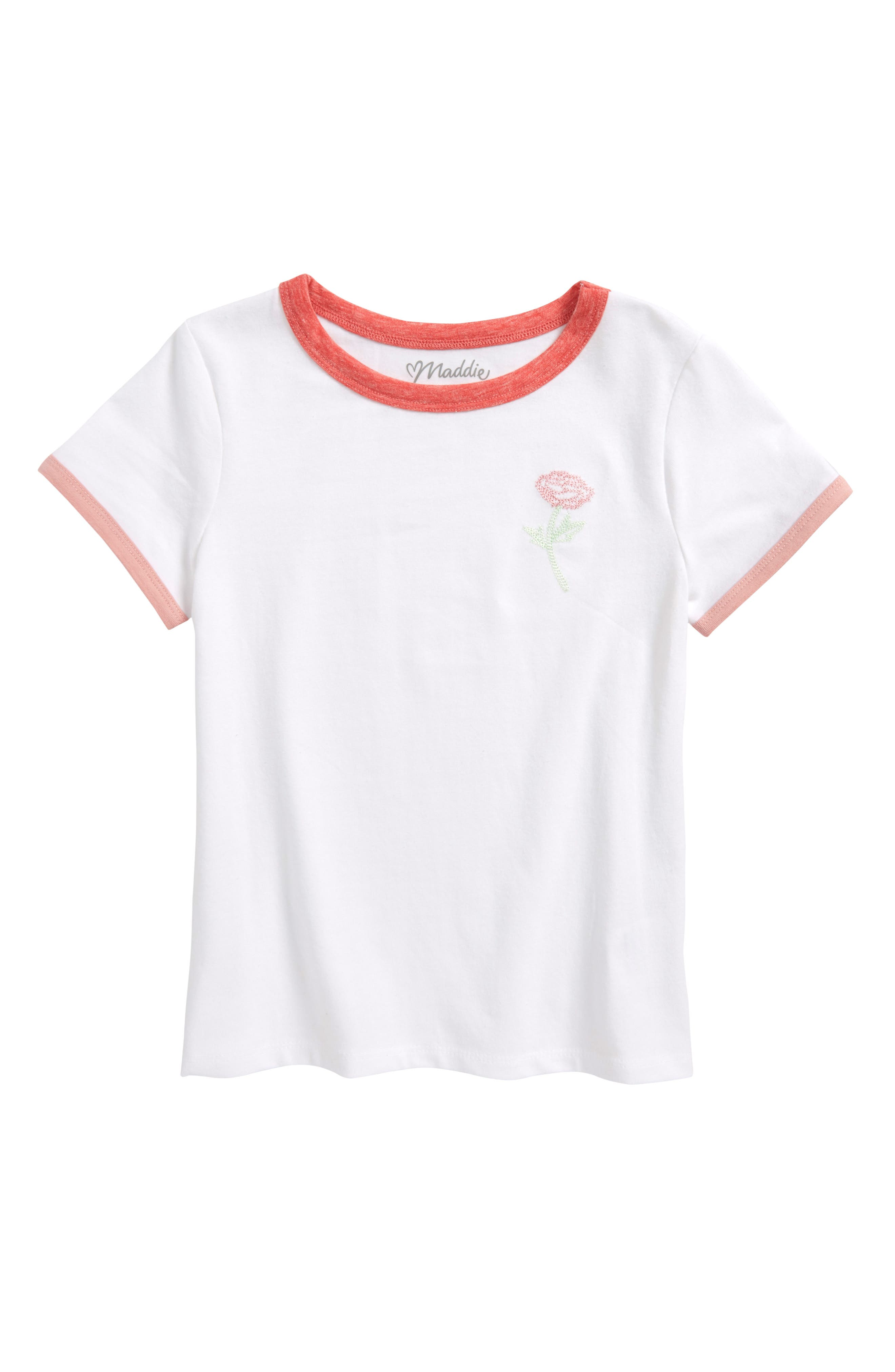 Embroidered Tee,                         Main,                         color,