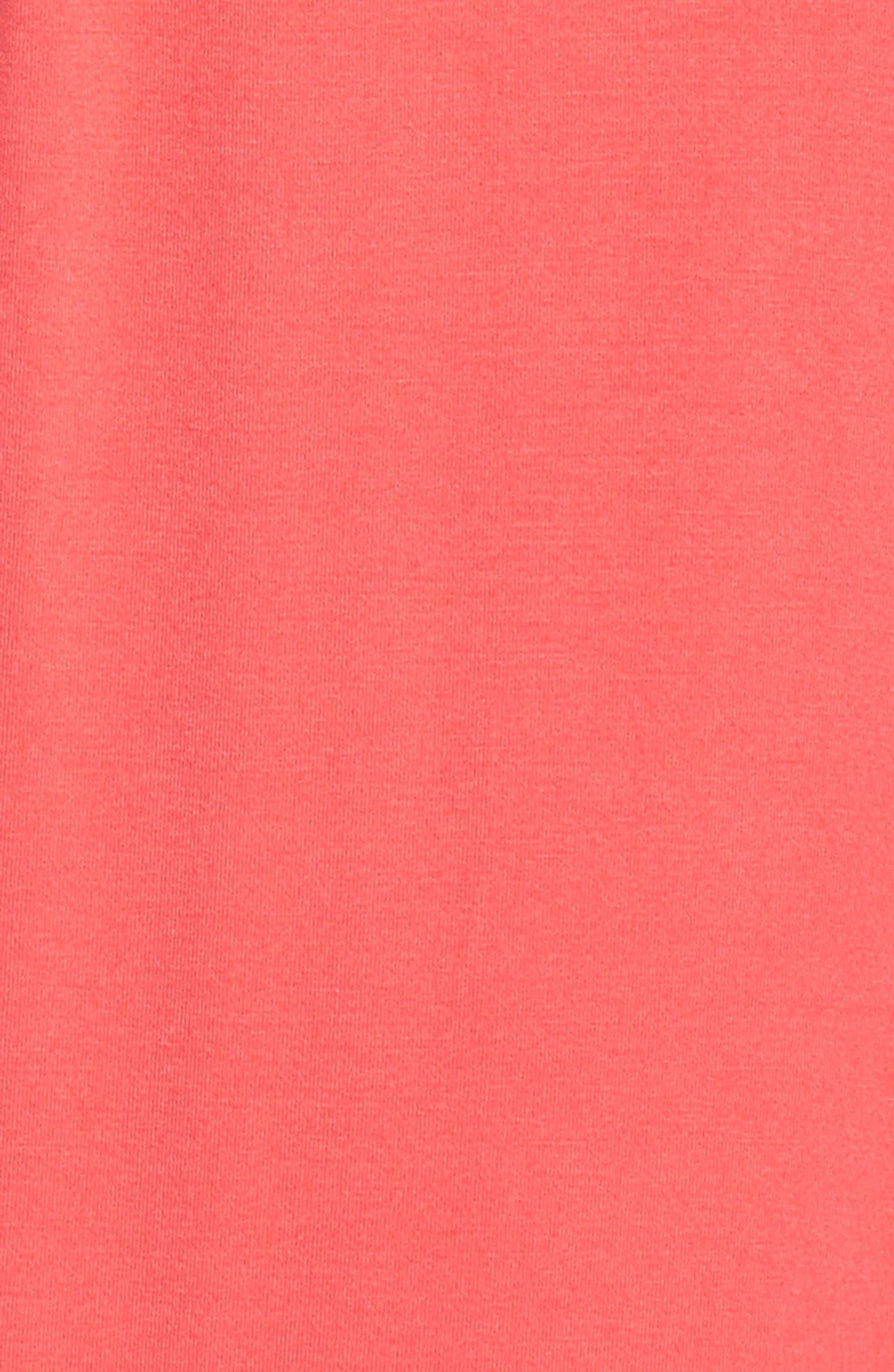 Deep V-Neck Jersey Maxi Dress,                             Alternate thumbnail 5, color,                             CORAL