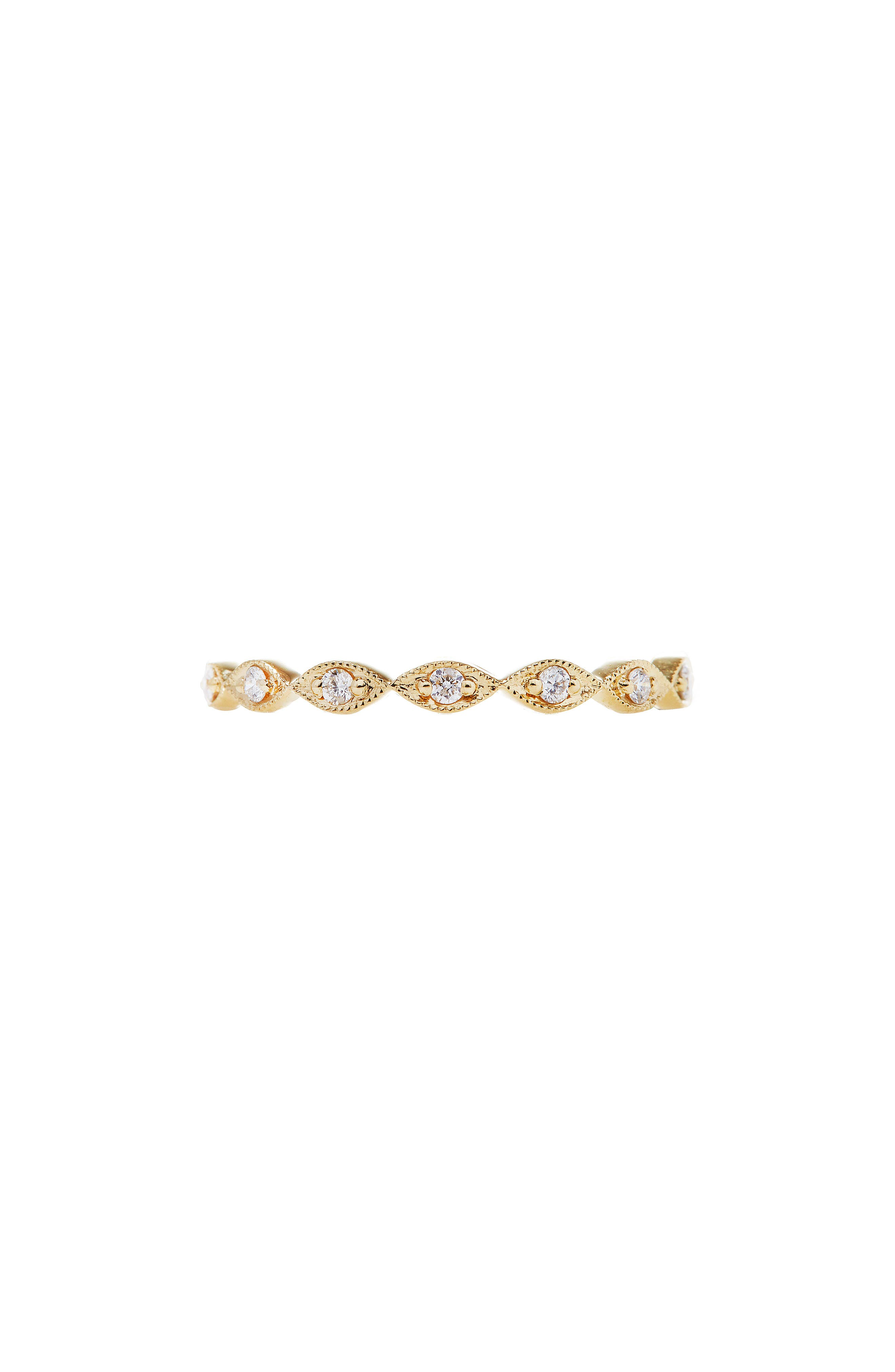 SETHI COUTURE Marquis Cut Diamond Ring in Yellow Gold/ Diamond