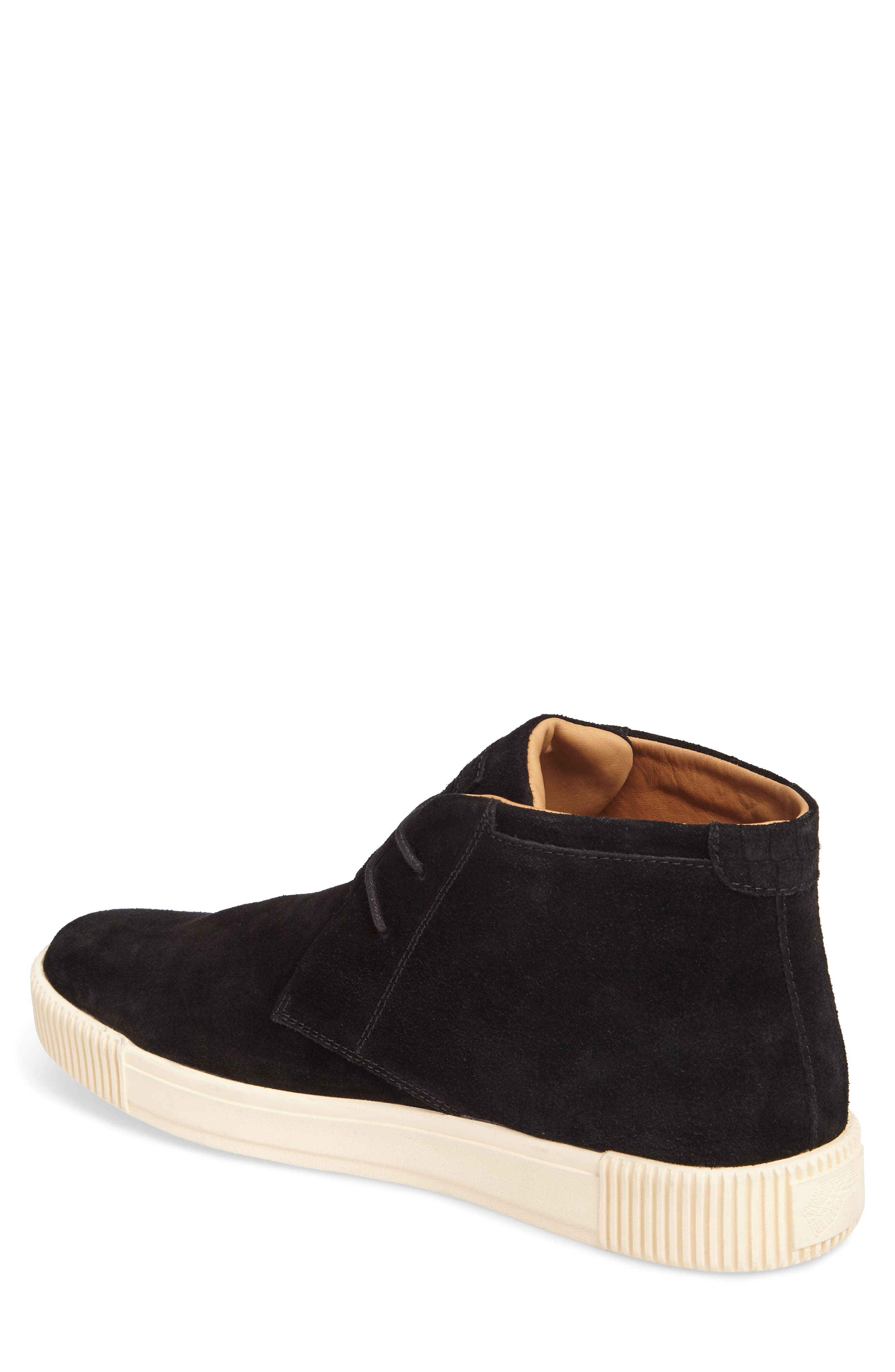 Lyons Chukka Sneaker,                             Alternate thumbnail 2, color,                             BLACK SUEDE
