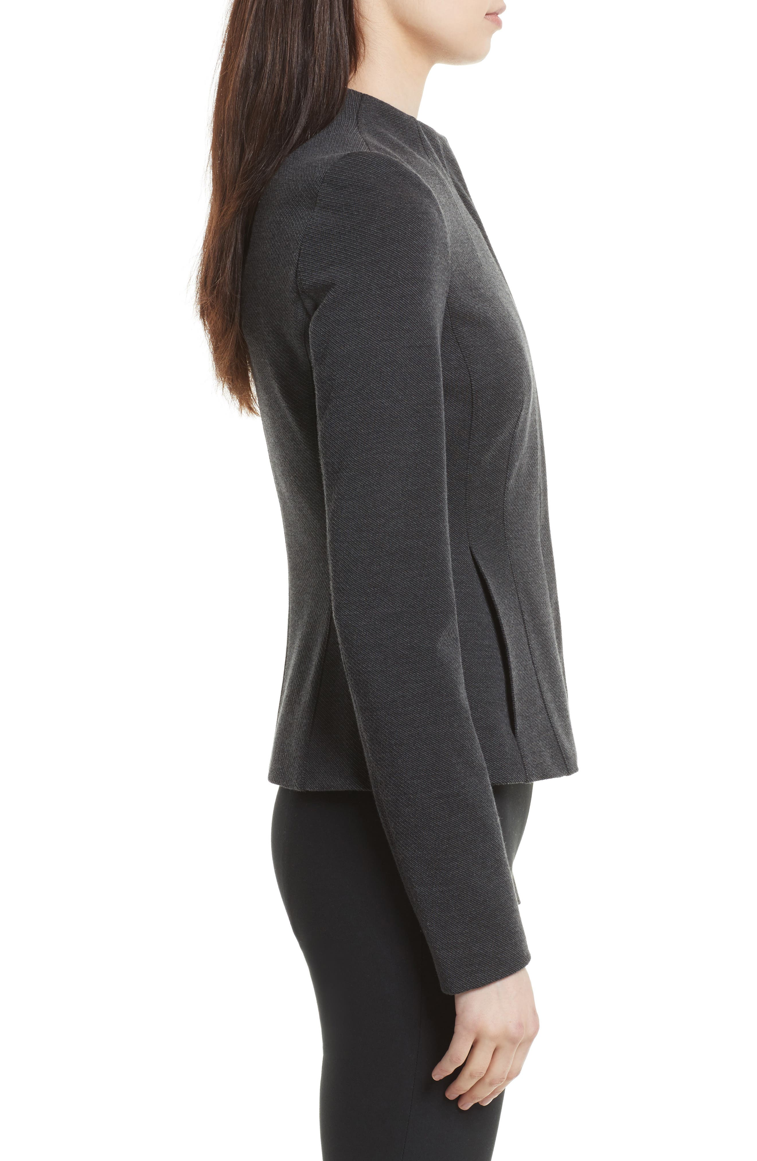 Sculpted Knit Twill Jacket,                             Alternate thumbnail 3, color,                             029