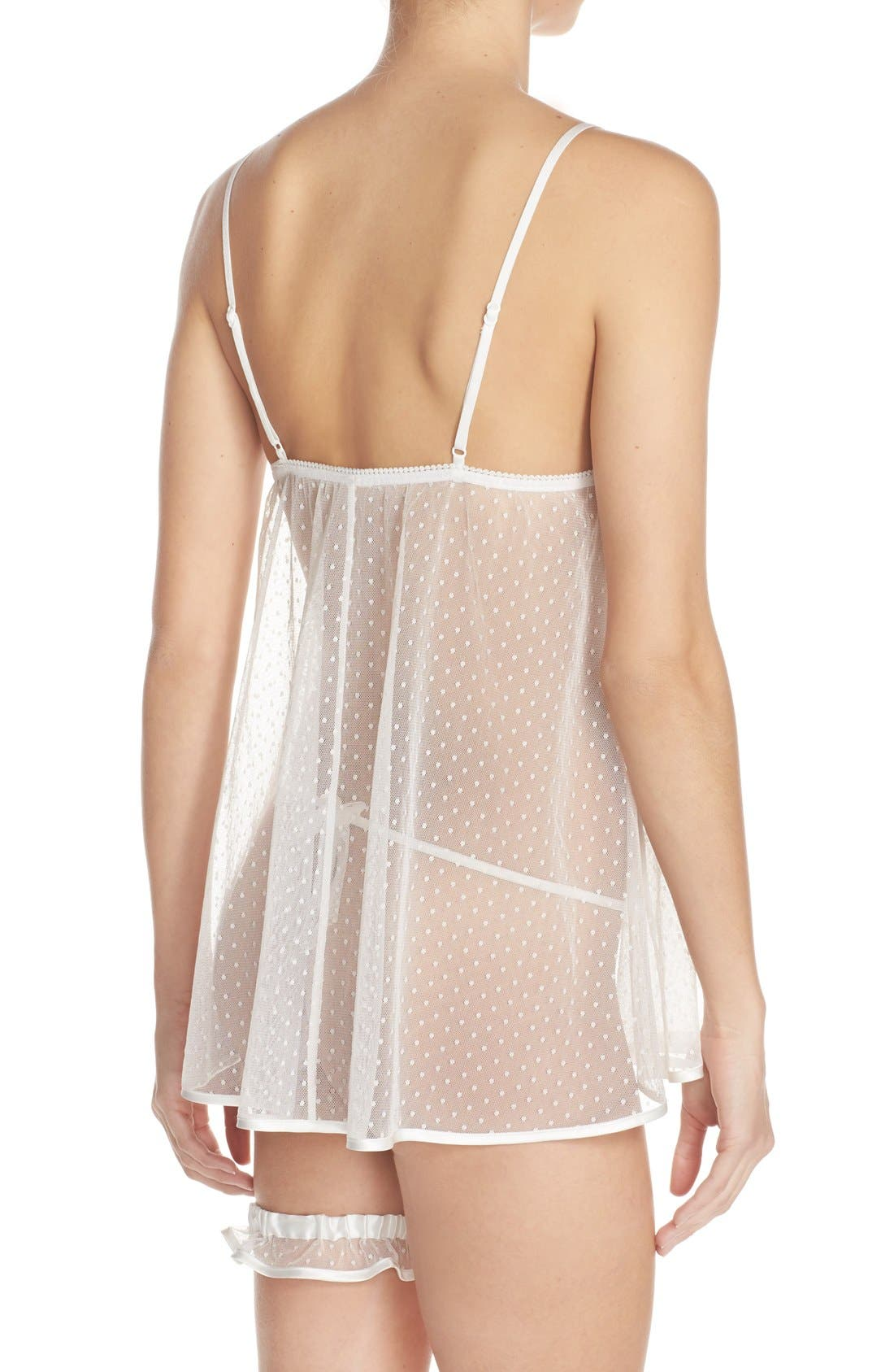 Jennifer Chemise Set,                             Alternate thumbnail 5, color,                             WHITE