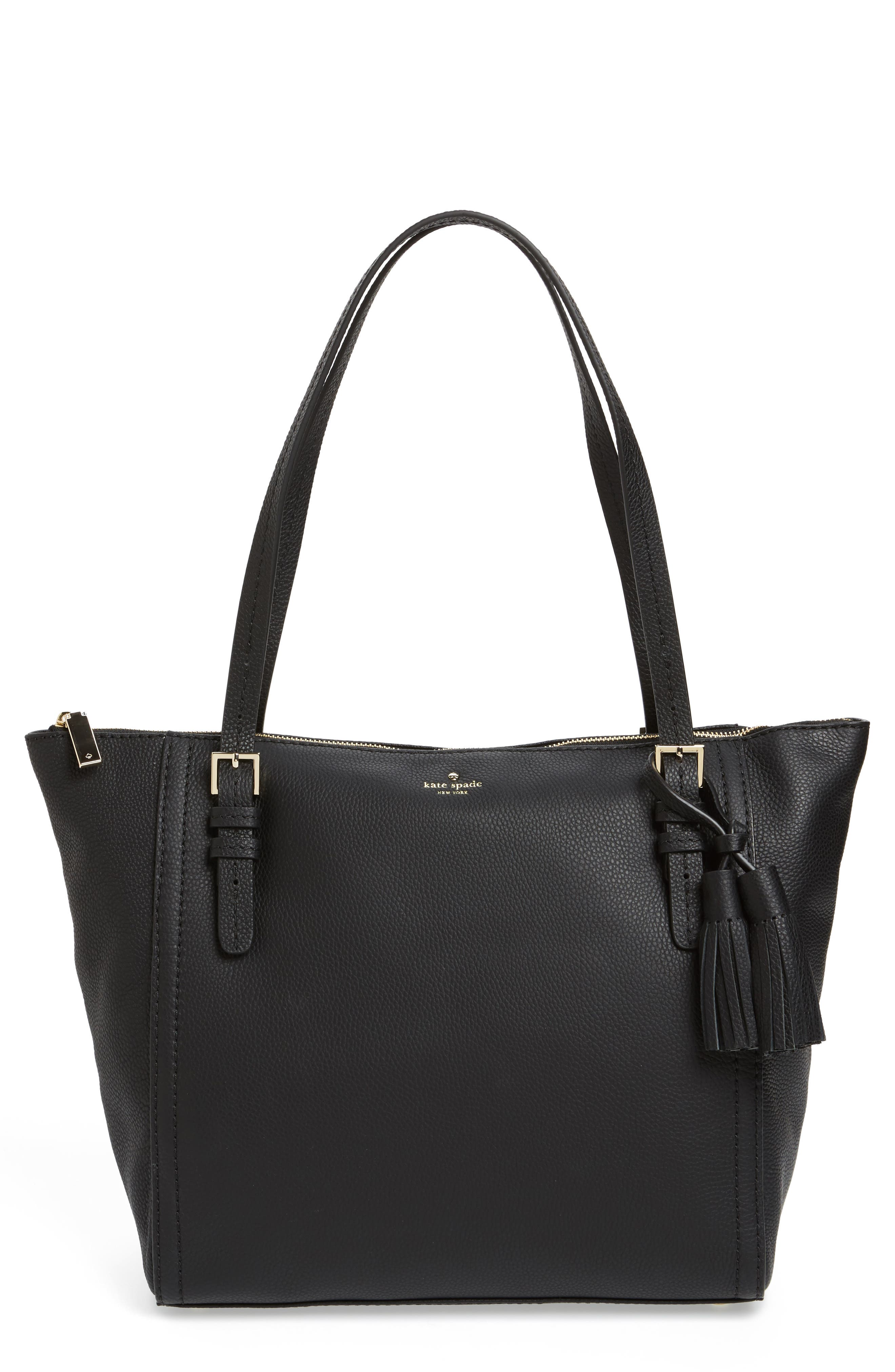 orchard street - maya leather tote, Main, color, 001