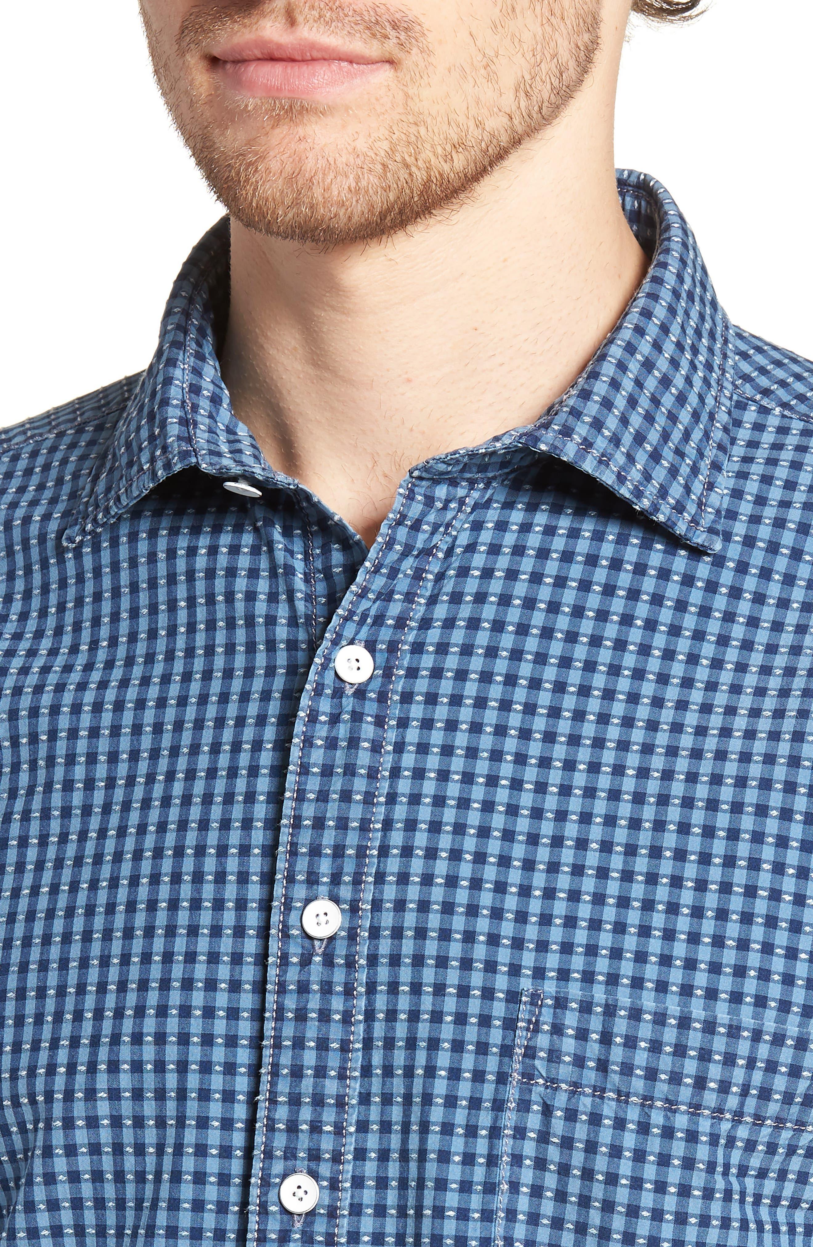 RODD & GUNN,                             Sandon Block Sport Shirt,                             Alternate thumbnail 4, color,                             420