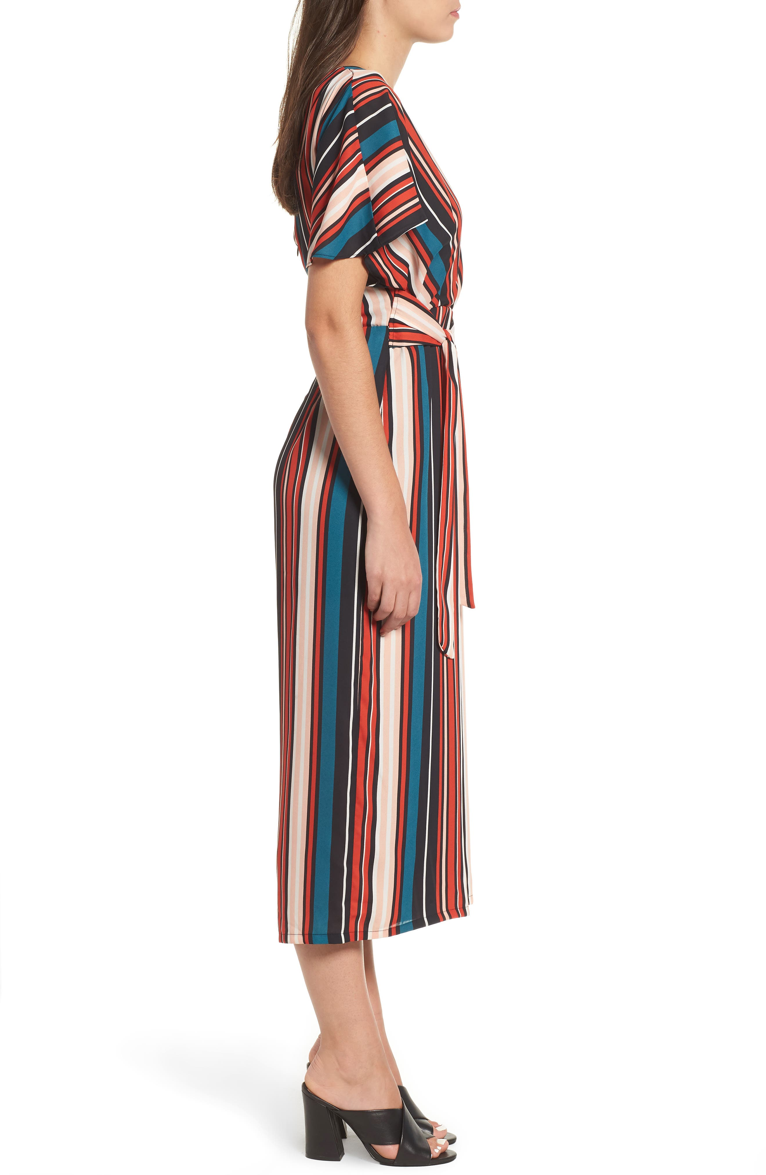Tie Waist Jumpsuit,                             Alternate thumbnail 3, color,                             001