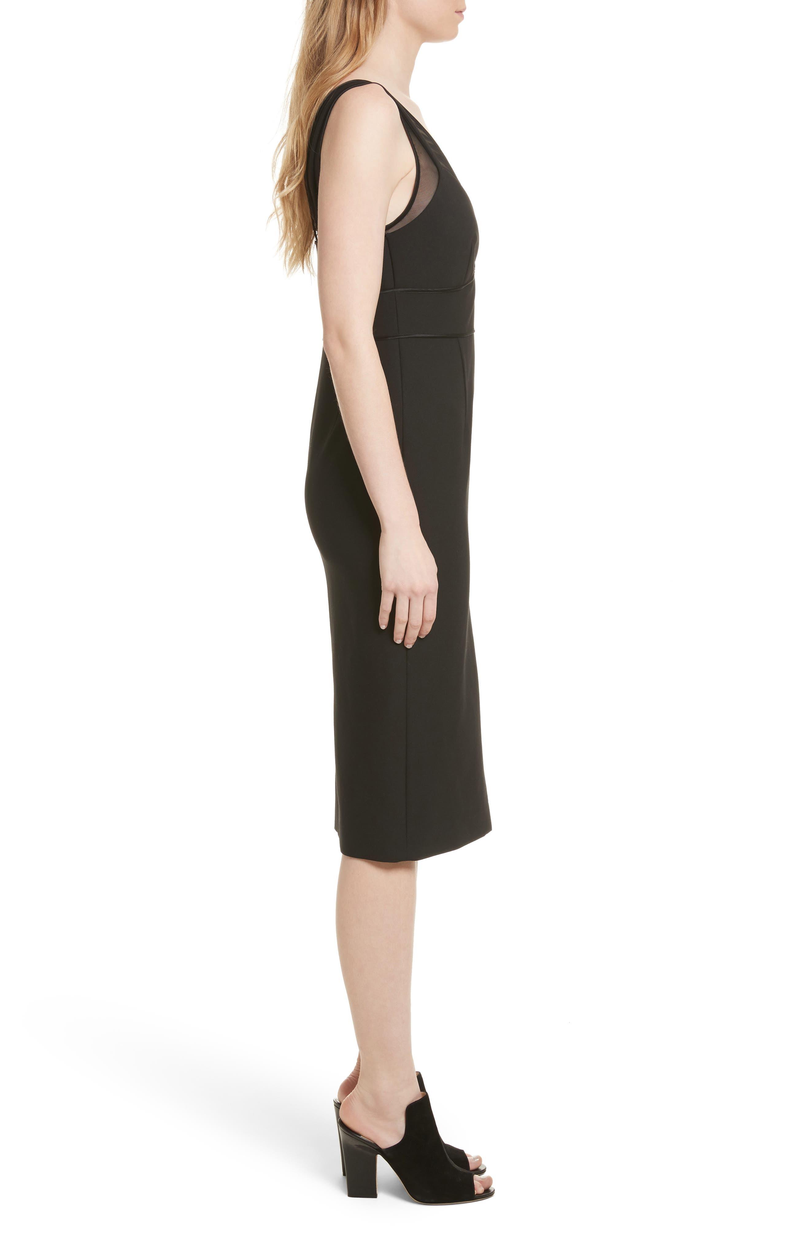 Lida Sheath Dress,                             Alternate thumbnail 3, color,                             001