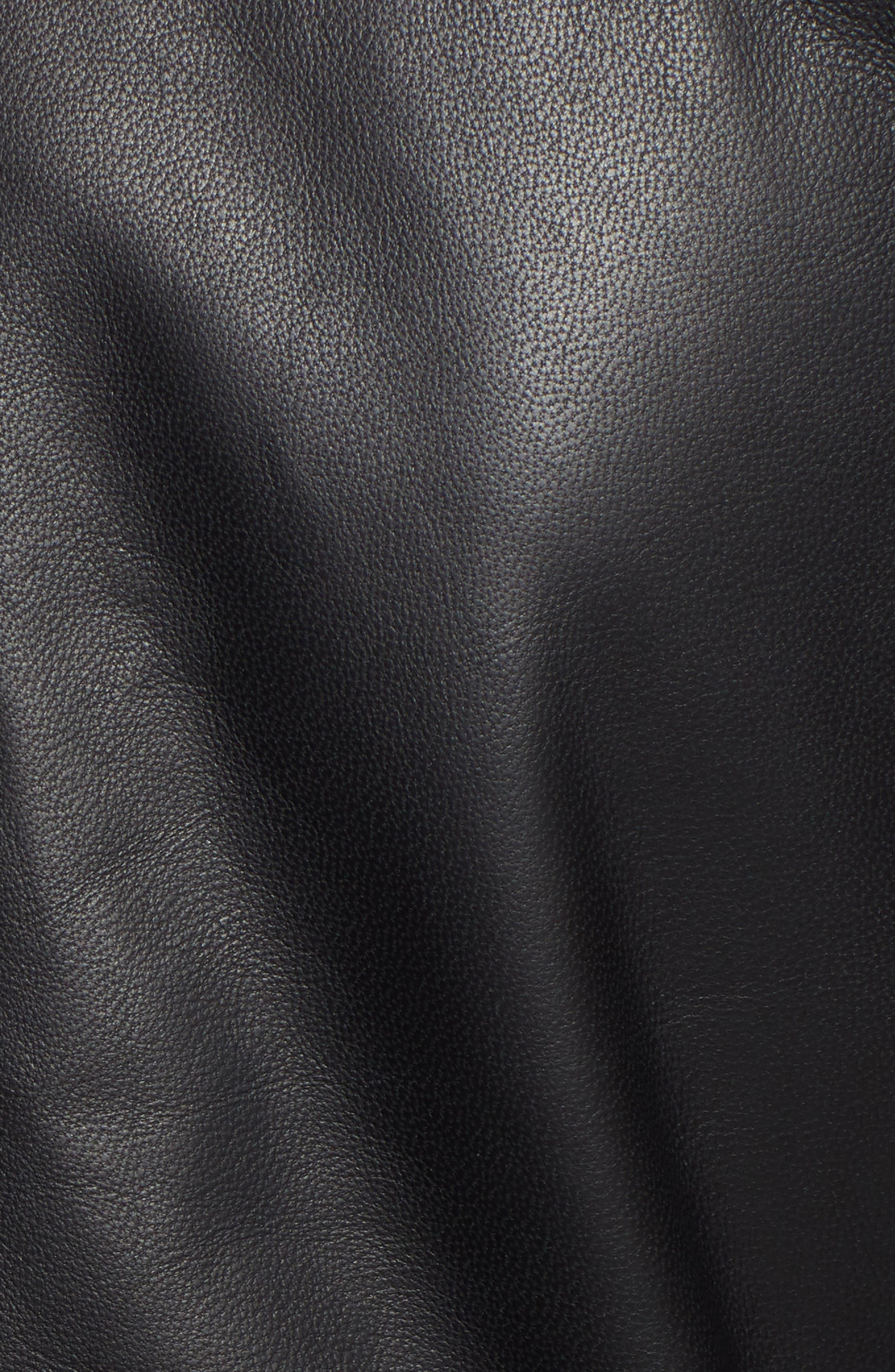 HALOGEN<SUP>®</SUP>,                             Leather Jacket,                             Alternate thumbnail 7, color,                             001