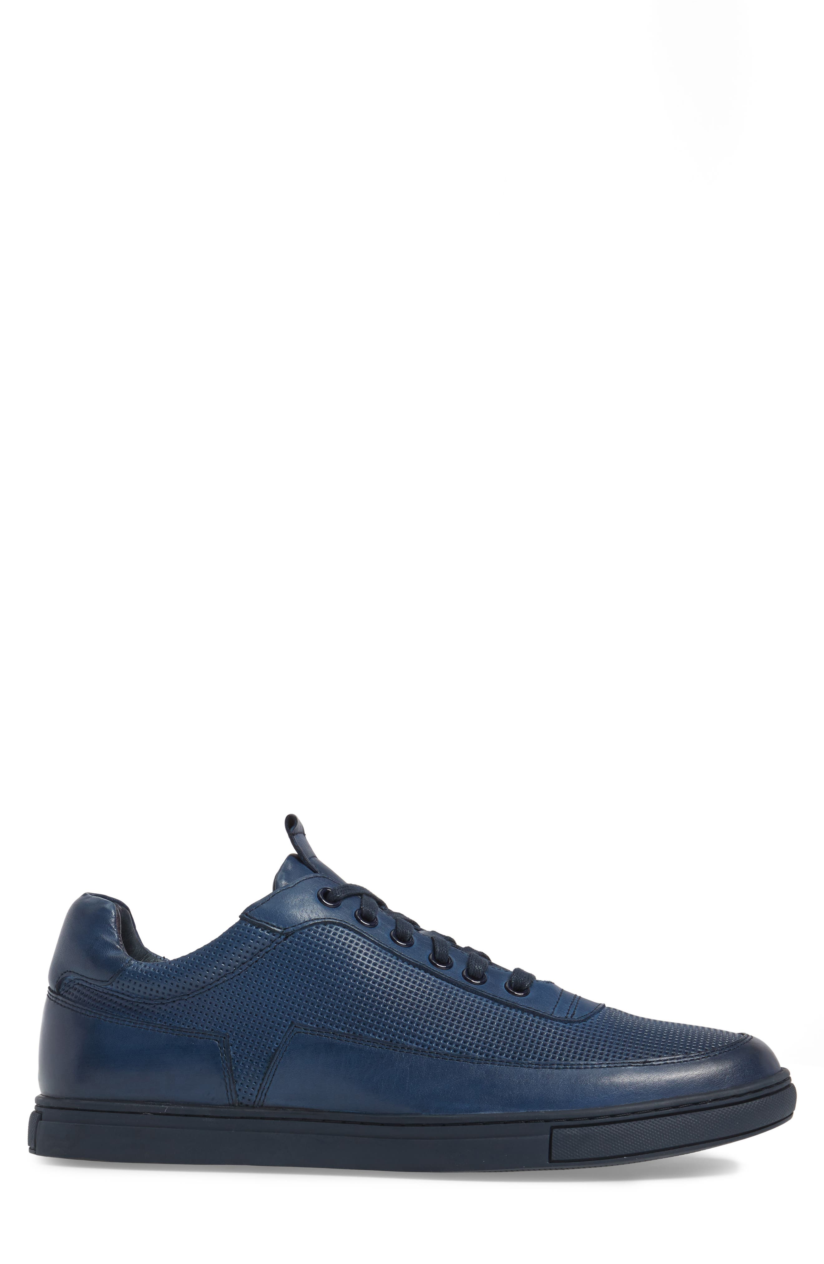 Harmony Sneaker,                             Alternate thumbnail 3, color,                             BLUE LEATHER