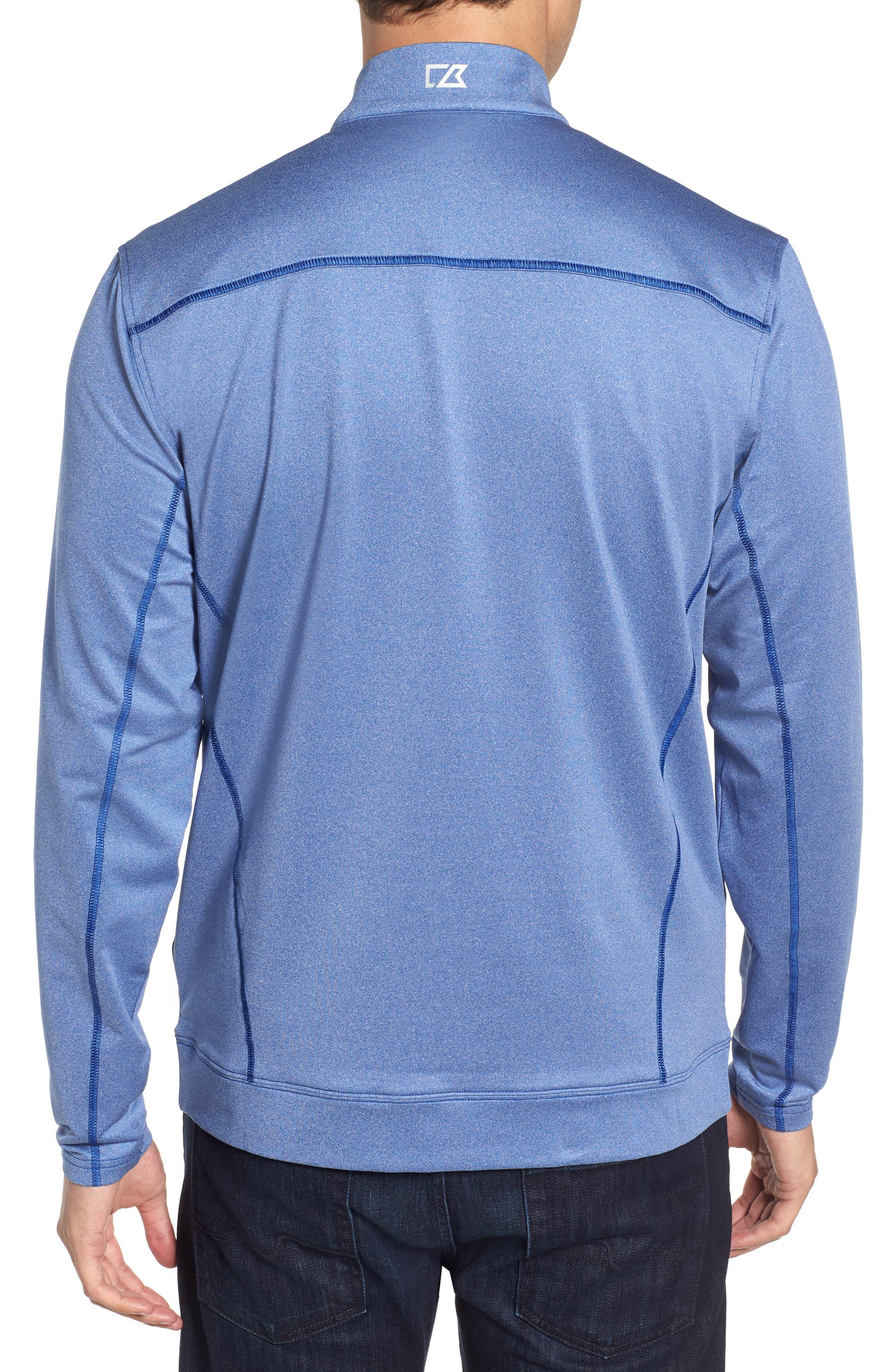Endurance New York Giants Regular Fit Pullover,                             Alternate thumbnail 2, color,                             TOUR BLUE HEATHER
