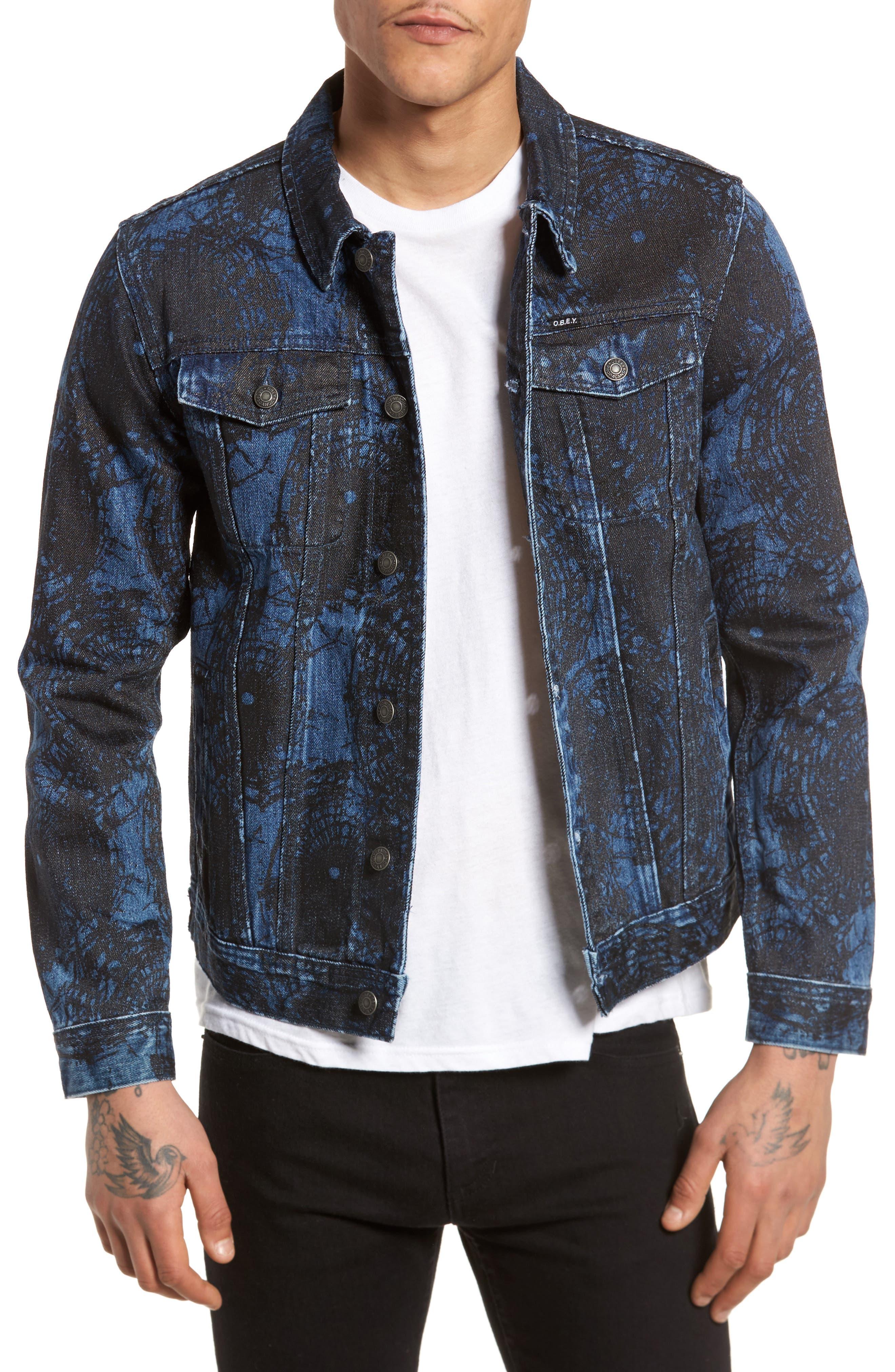 Shattered Denim Jacket,                             Main thumbnail 1, color,                             002