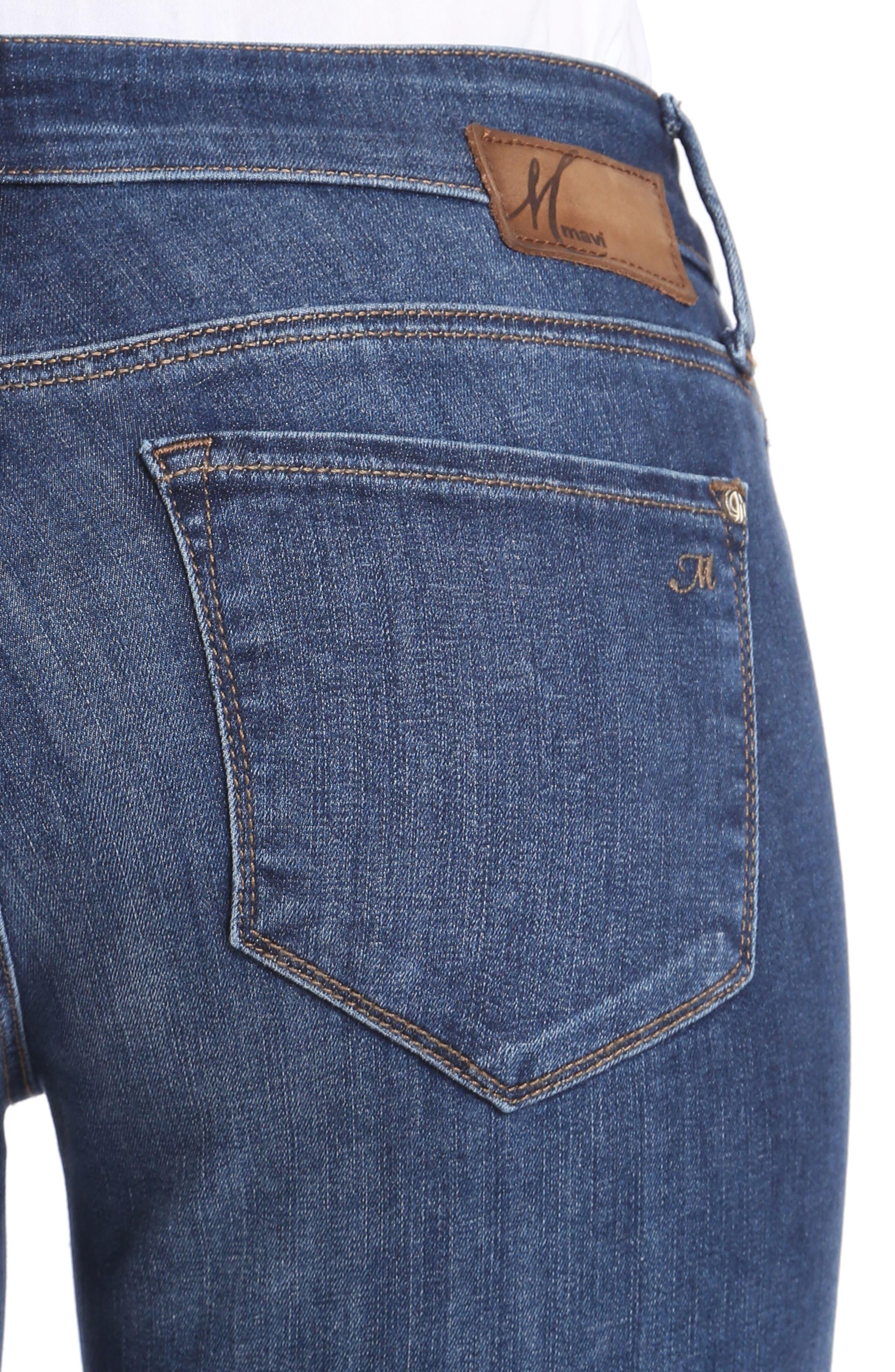 Alexa Ankle Skinny Jeans,                             Alternate thumbnail 4, color,