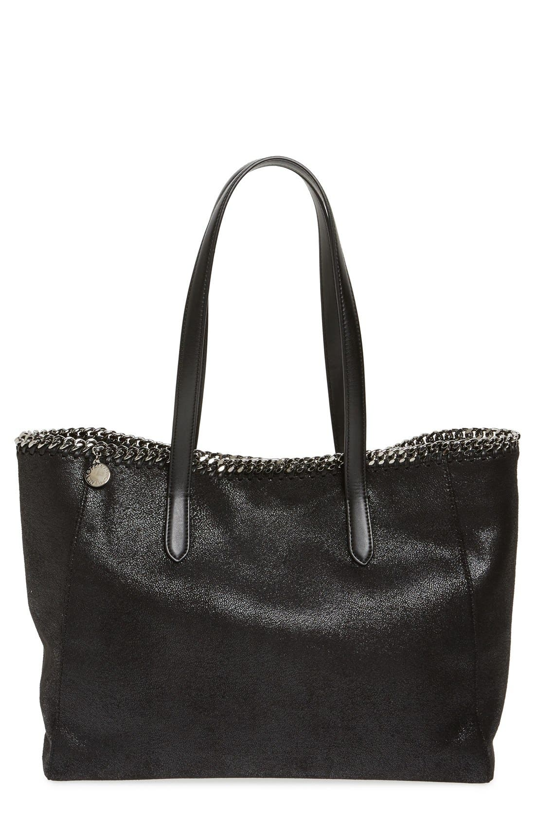'Falabella - Shaggy Deer' Faux Leather Tote,                             Main thumbnail 1, color,                             001