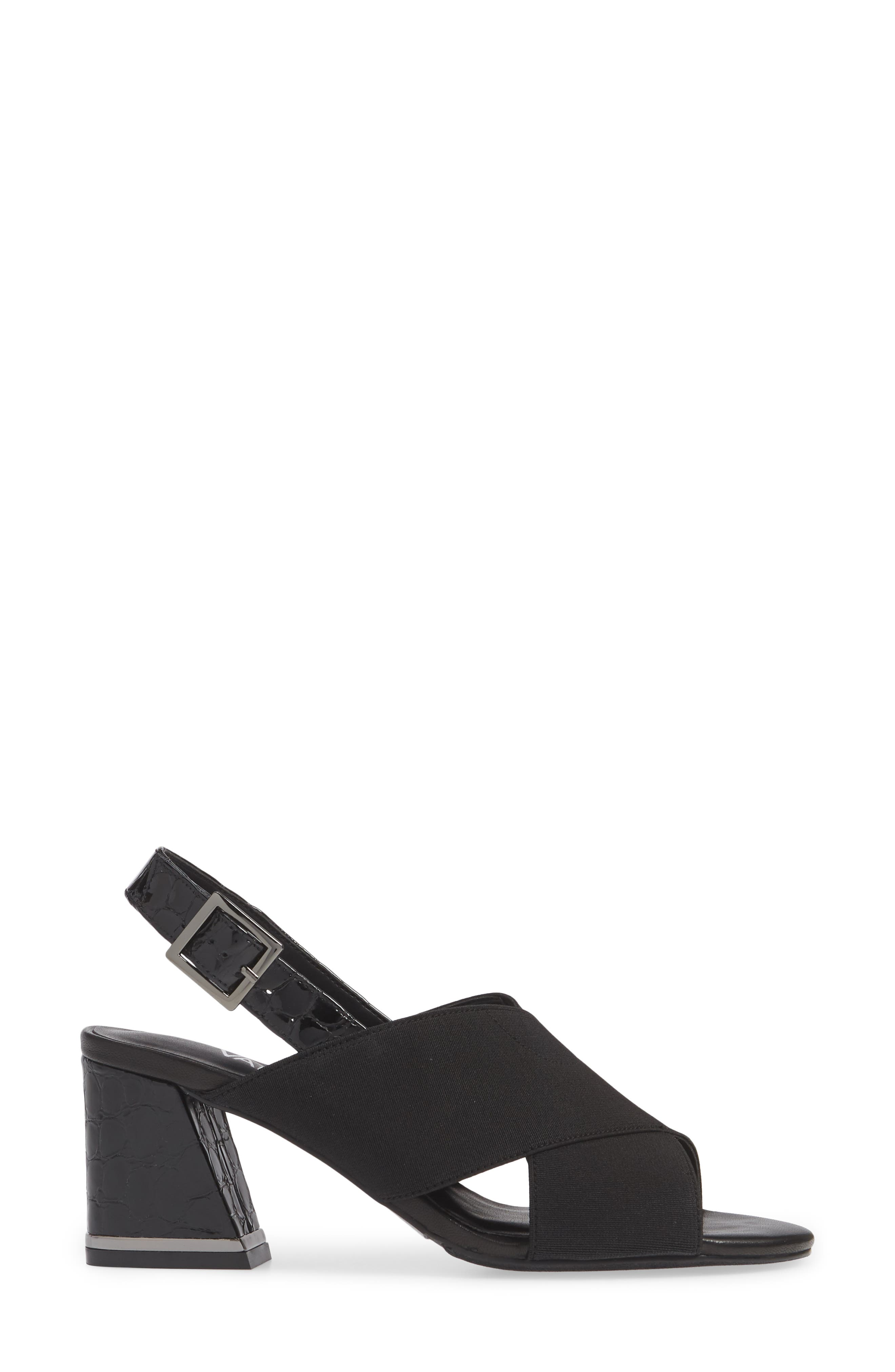 Bamba Slingback Sandal,                             Alternate thumbnail 3, color,                             BLACK