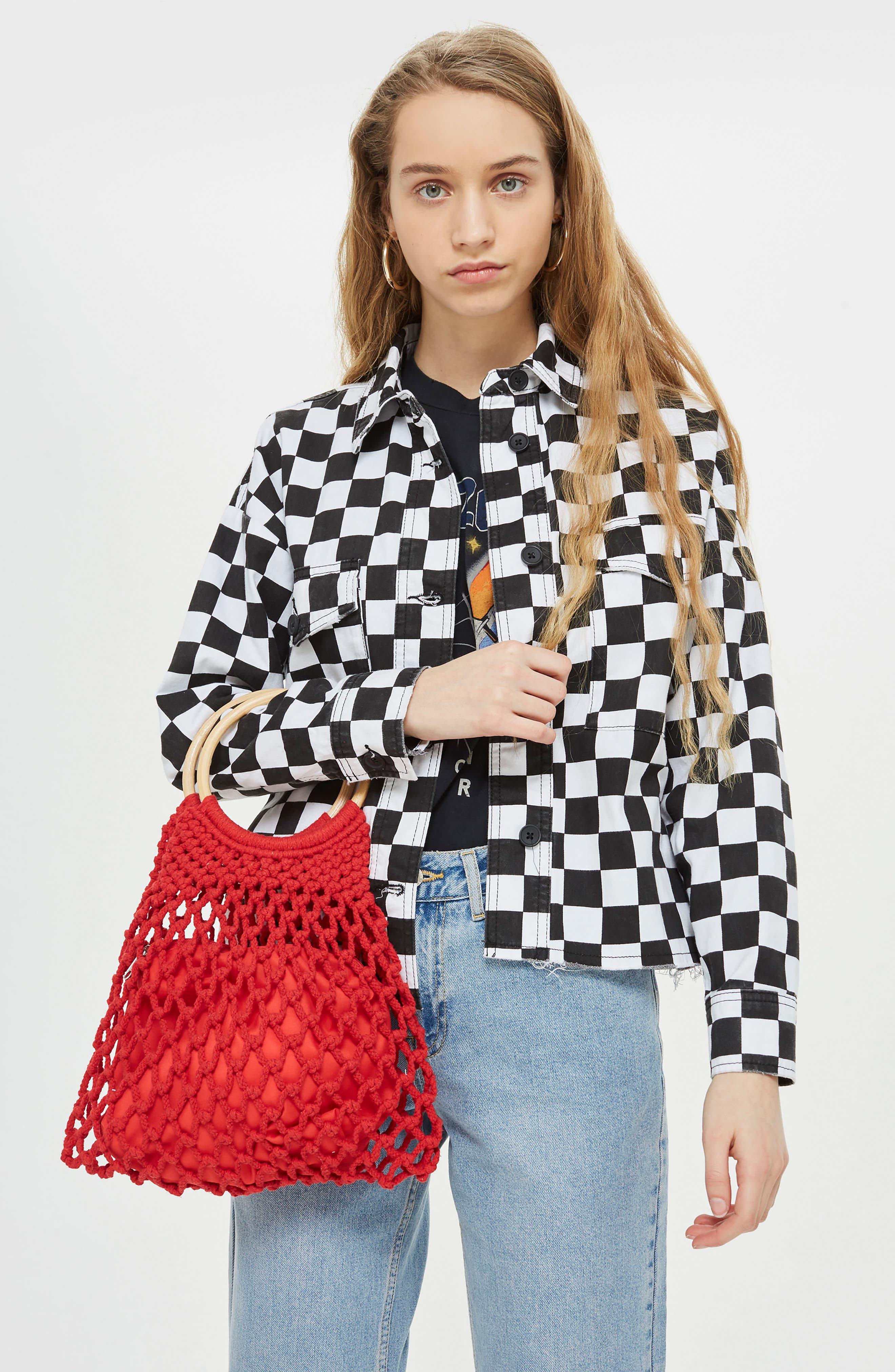Benny String Shopper Bag,                             Alternate thumbnail 4, color,                             600
