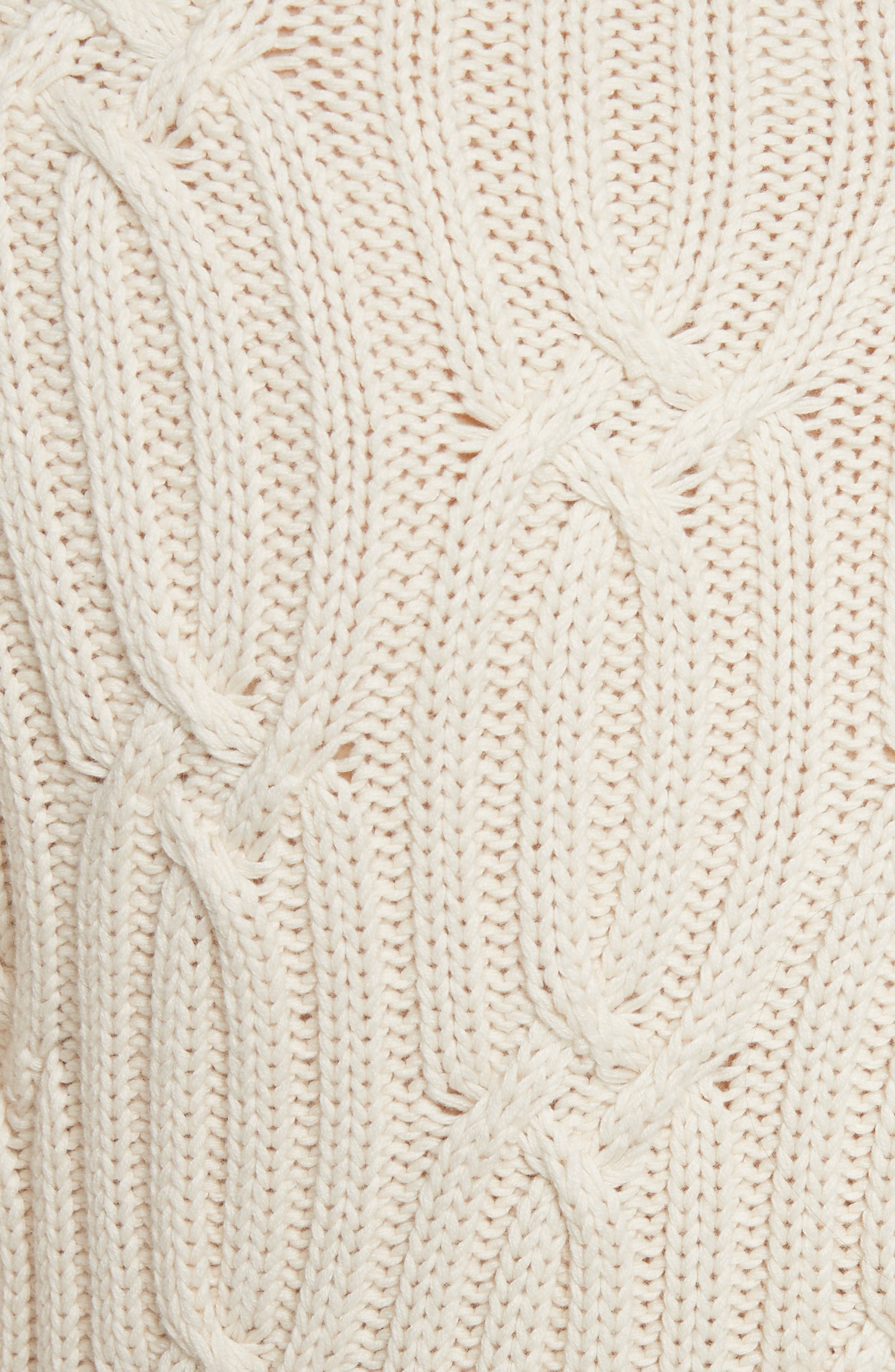 Cable Knit Sweater,                             Alternate thumbnail 5, color,                             113