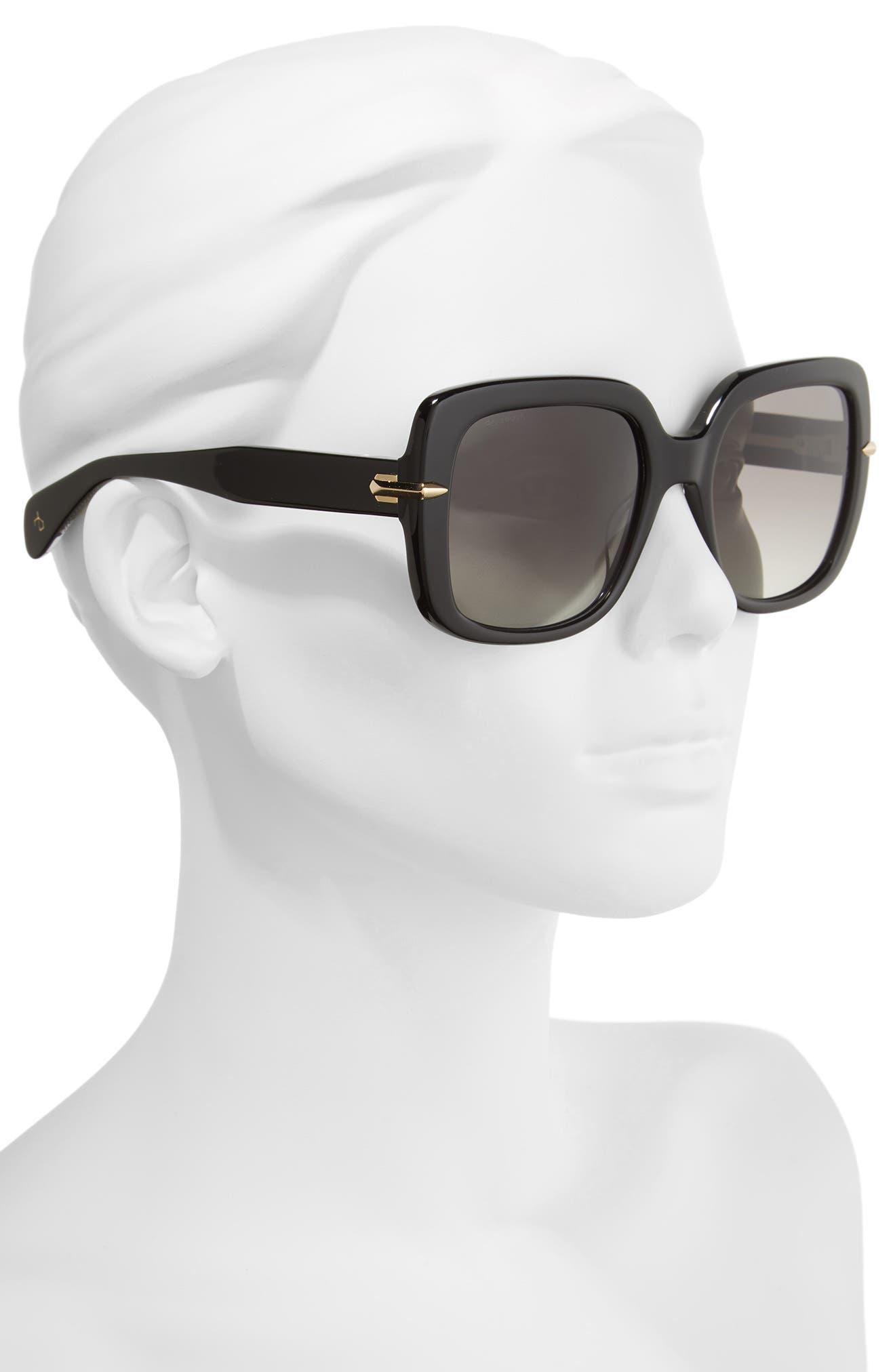 56mm Square Polarized Sunglasses,                             Alternate thumbnail 2, color,                             001