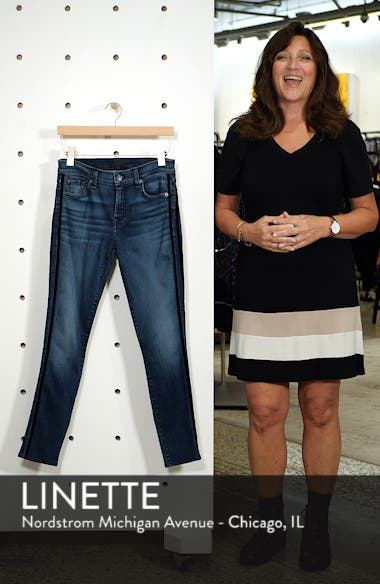 Ankle Skinny Double Stripes Jeans, sales video thumbnail