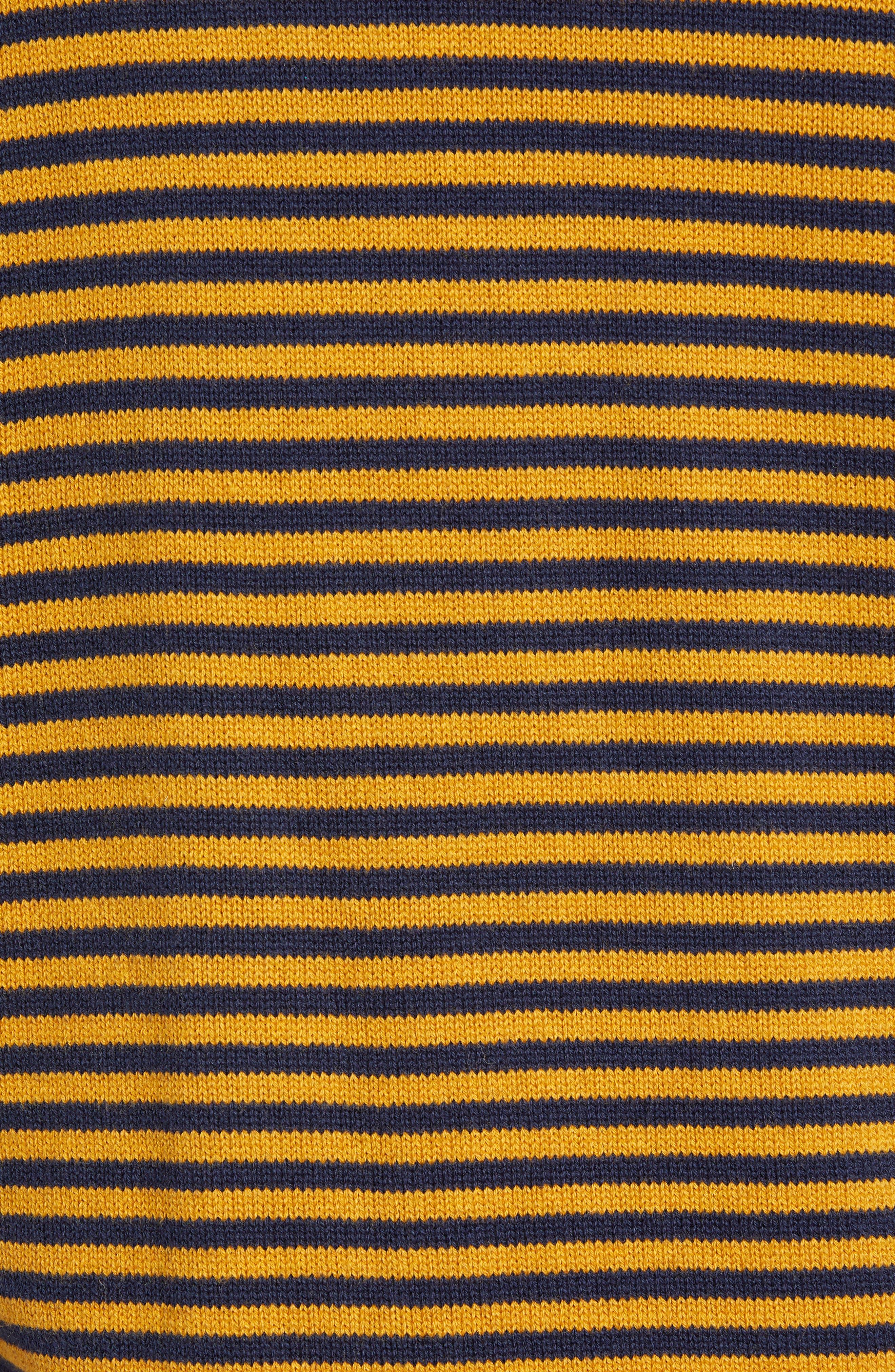 Stripe Cotton & Wool Sweater,                             Alternate thumbnail 5, color,                             CALLUNA YELLOW UTILITY BLUE