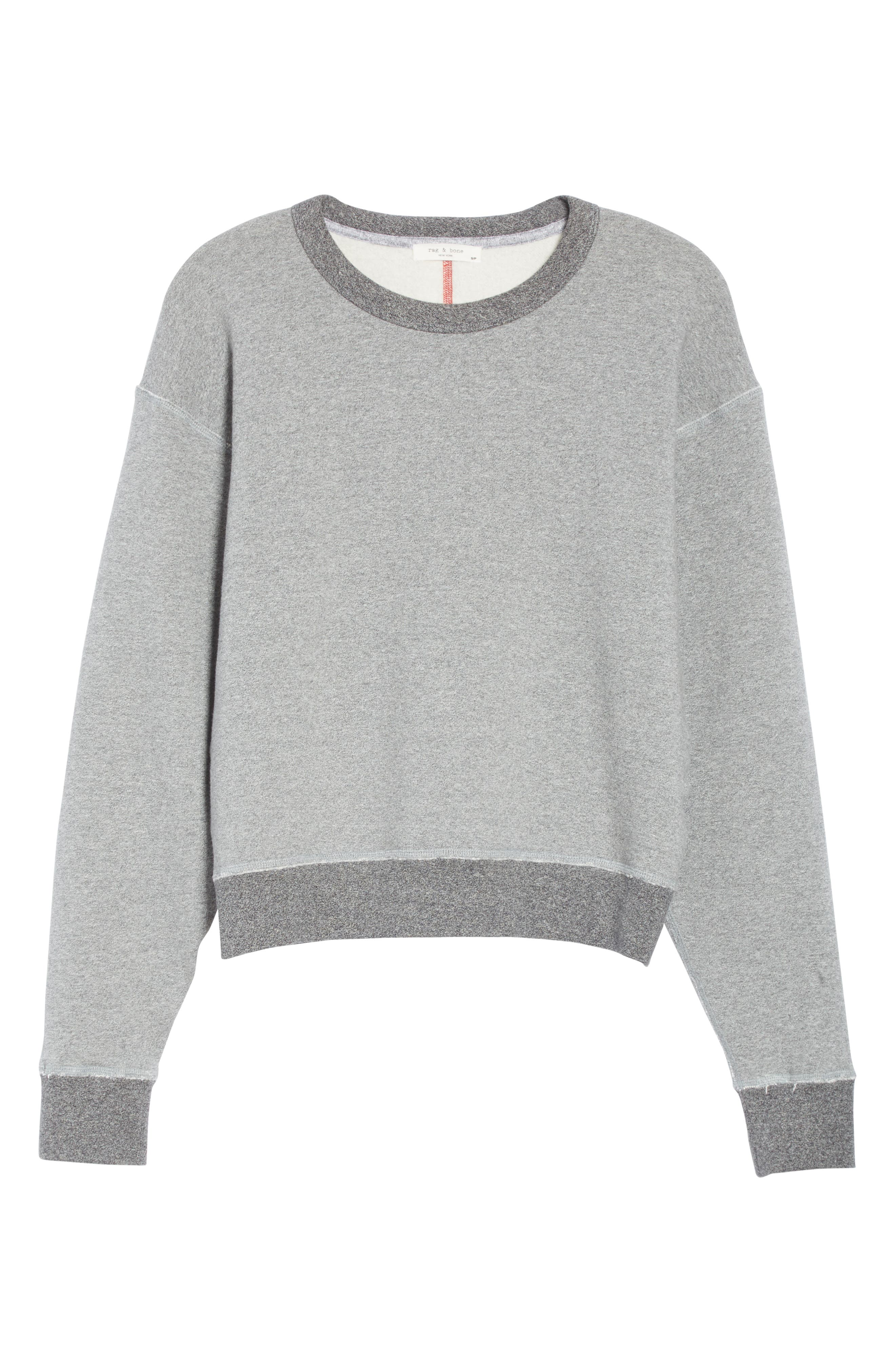 rag & bone Best Sweatshirt,                             Alternate thumbnail 6, color,                             HEATHER GREY