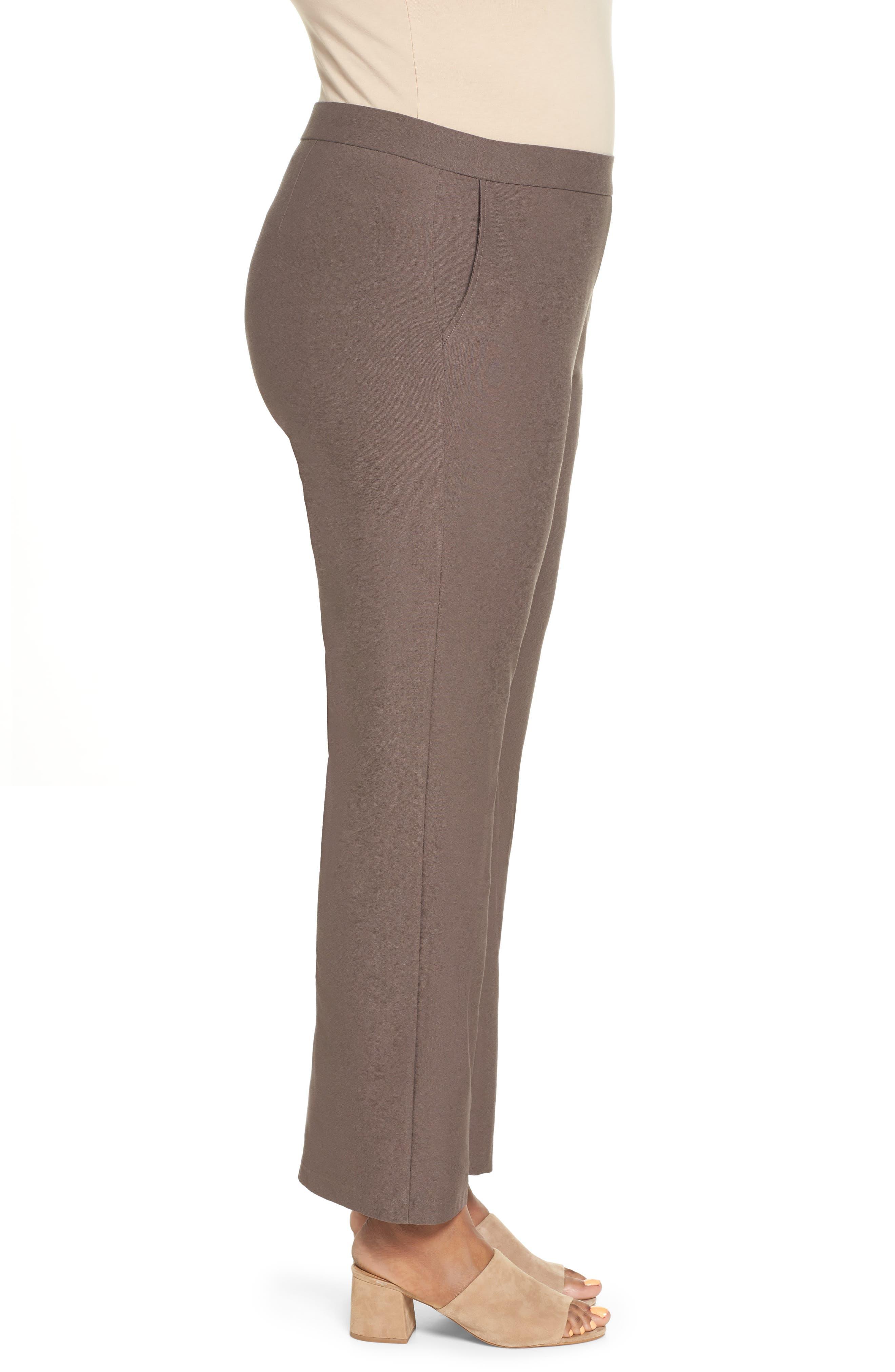 High Rise Straight Leg Knit Pants,                             Alternate thumbnail 3, color,                             273