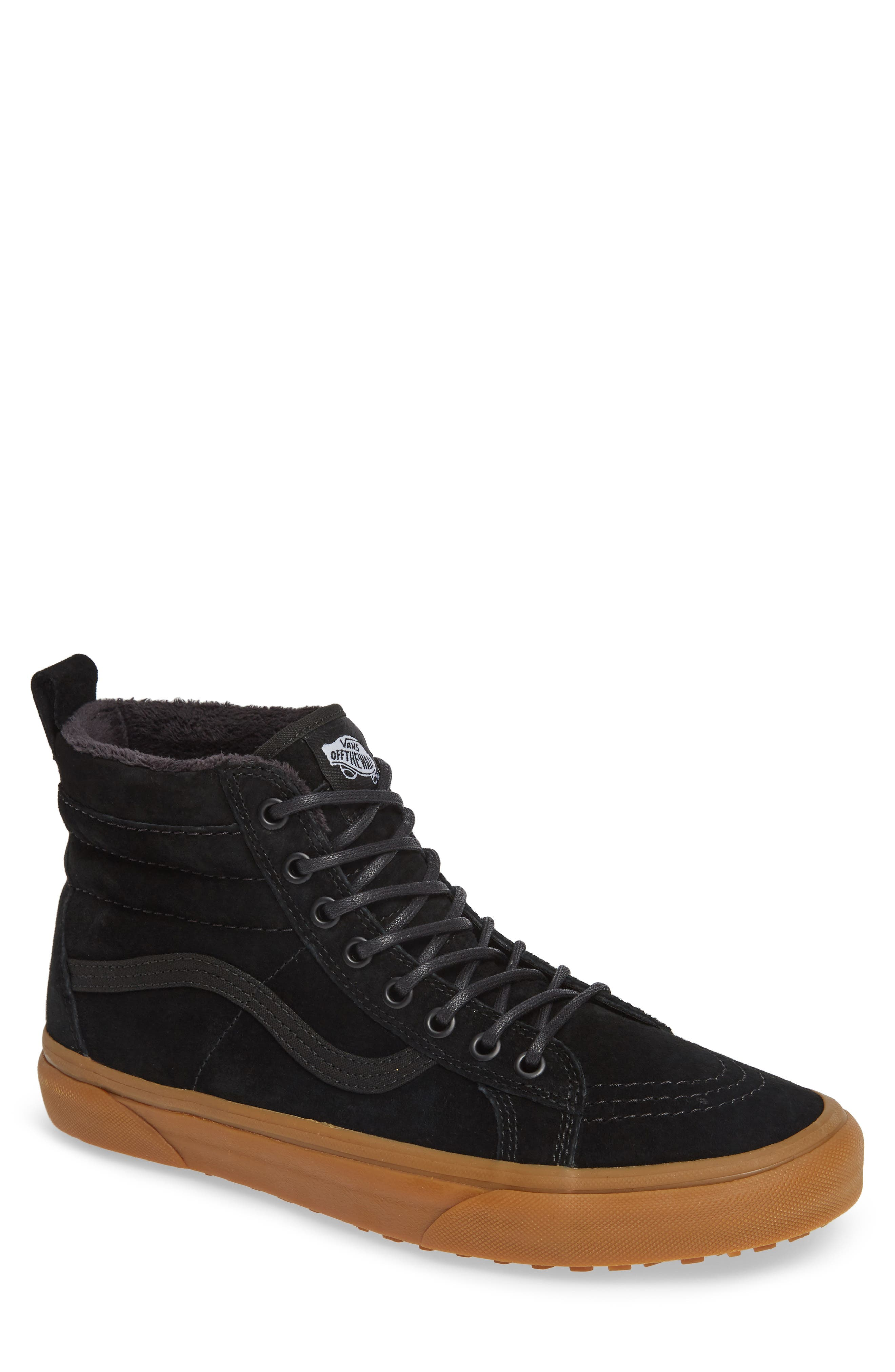 'Sk8-Hi MTE' Sneaker,                         Main,                         color, BLACK/ GUM