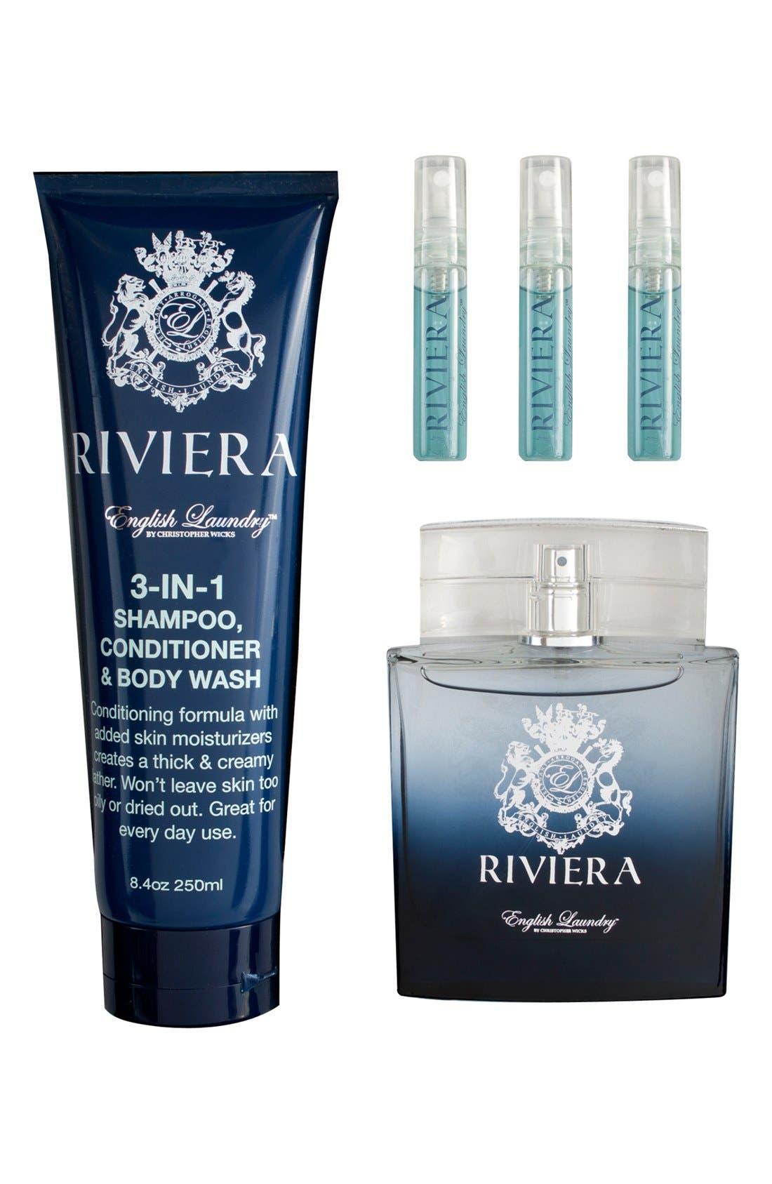 'Riviera' Fragrance Gift Set,                             Alternate thumbnail 2, color,                             000