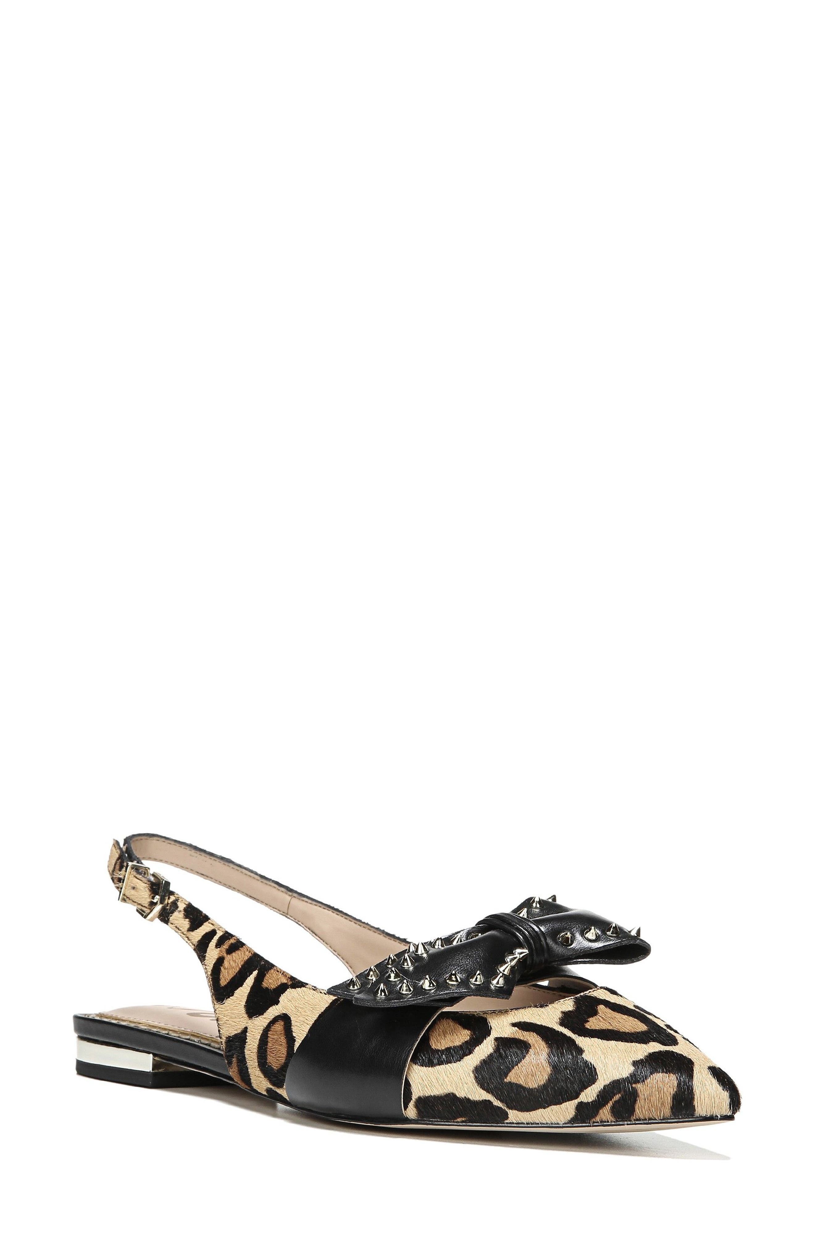 Rupert Bow Pointy Toe Flat,                         Main,                         color, 001