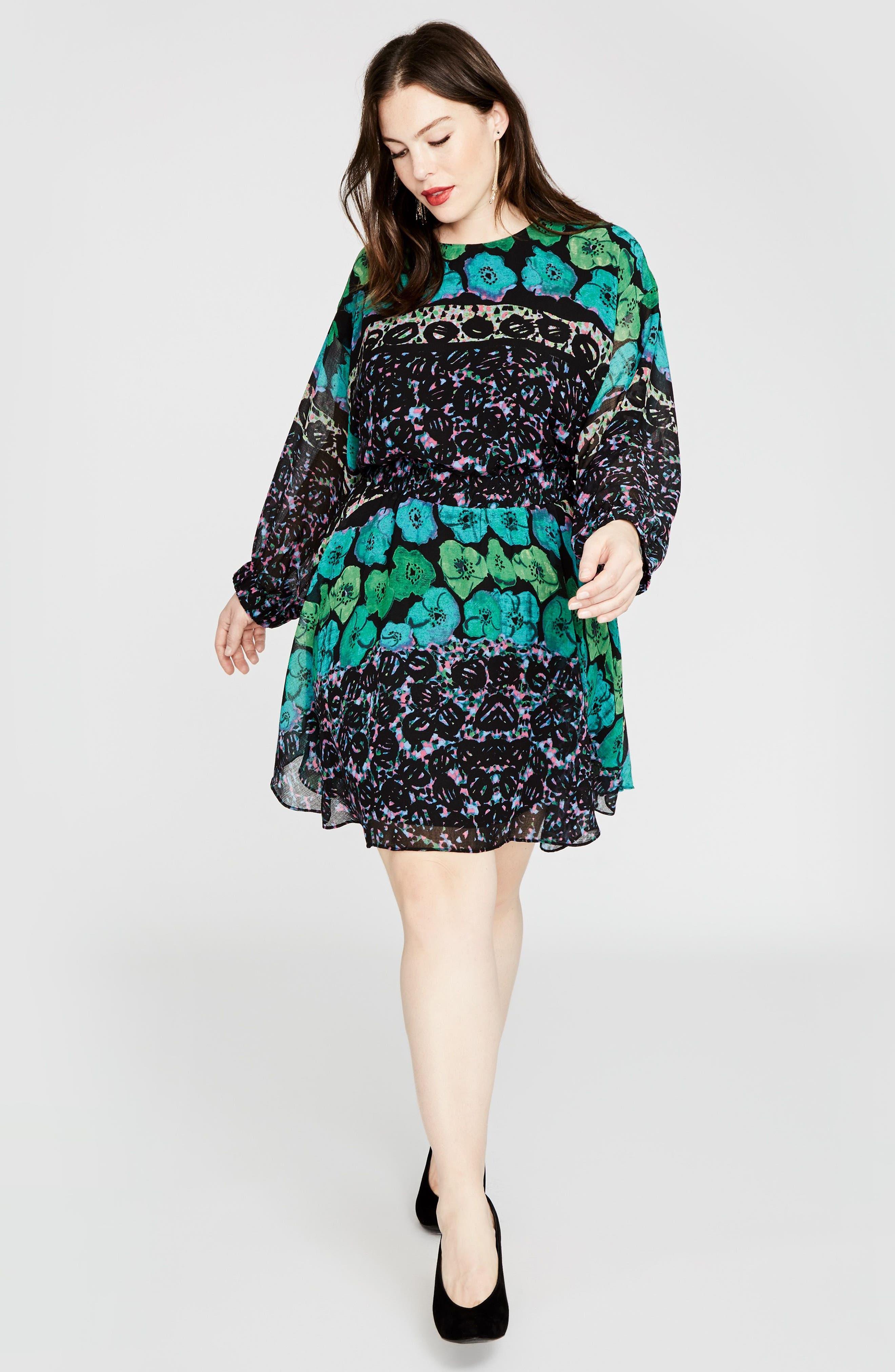 Easy Floral Dress,                             Alternate thumbnail 3, color,                             303