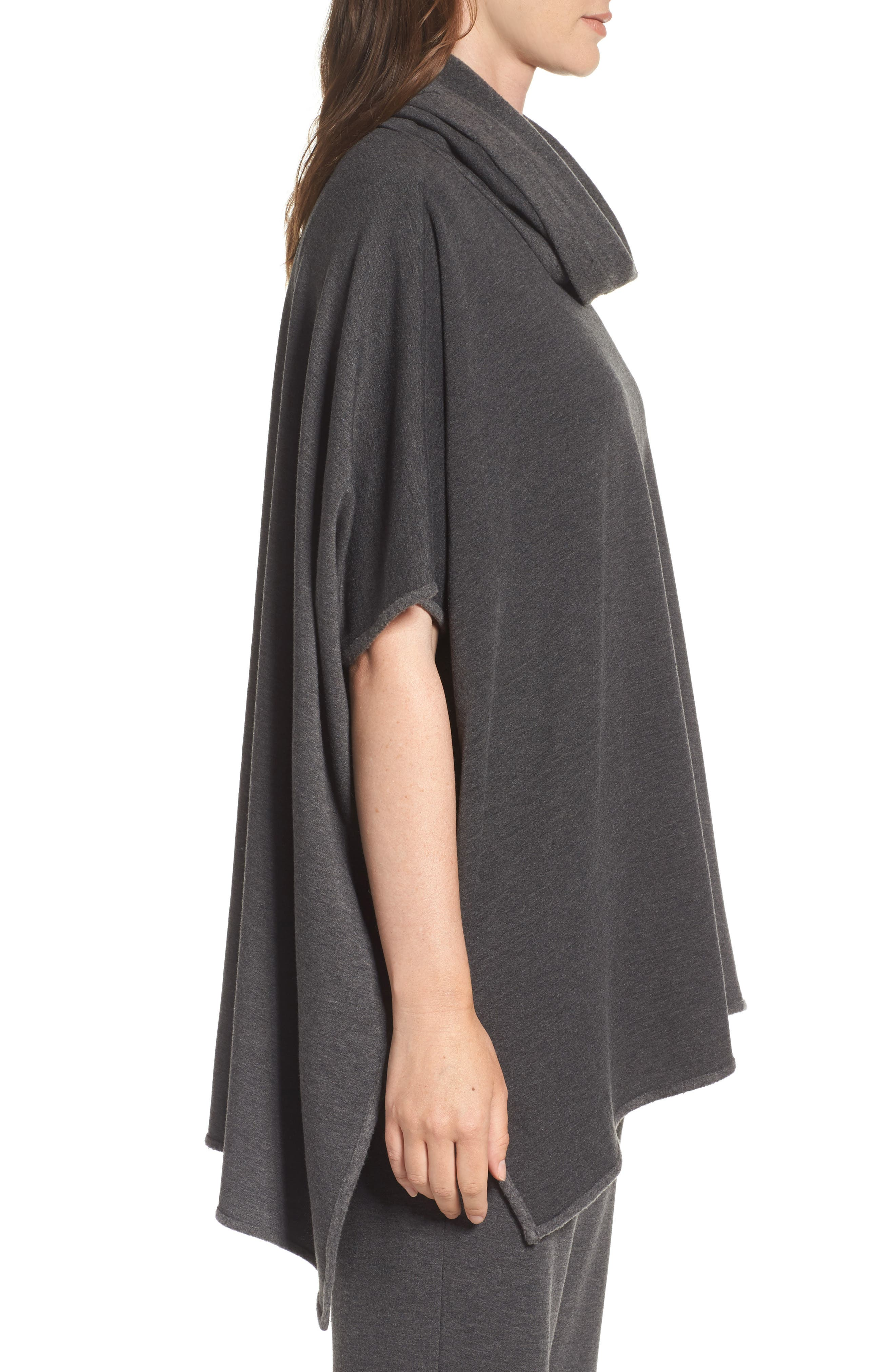 Brushed Jersey Poncho,                             Alternate thumbnail 6, color,