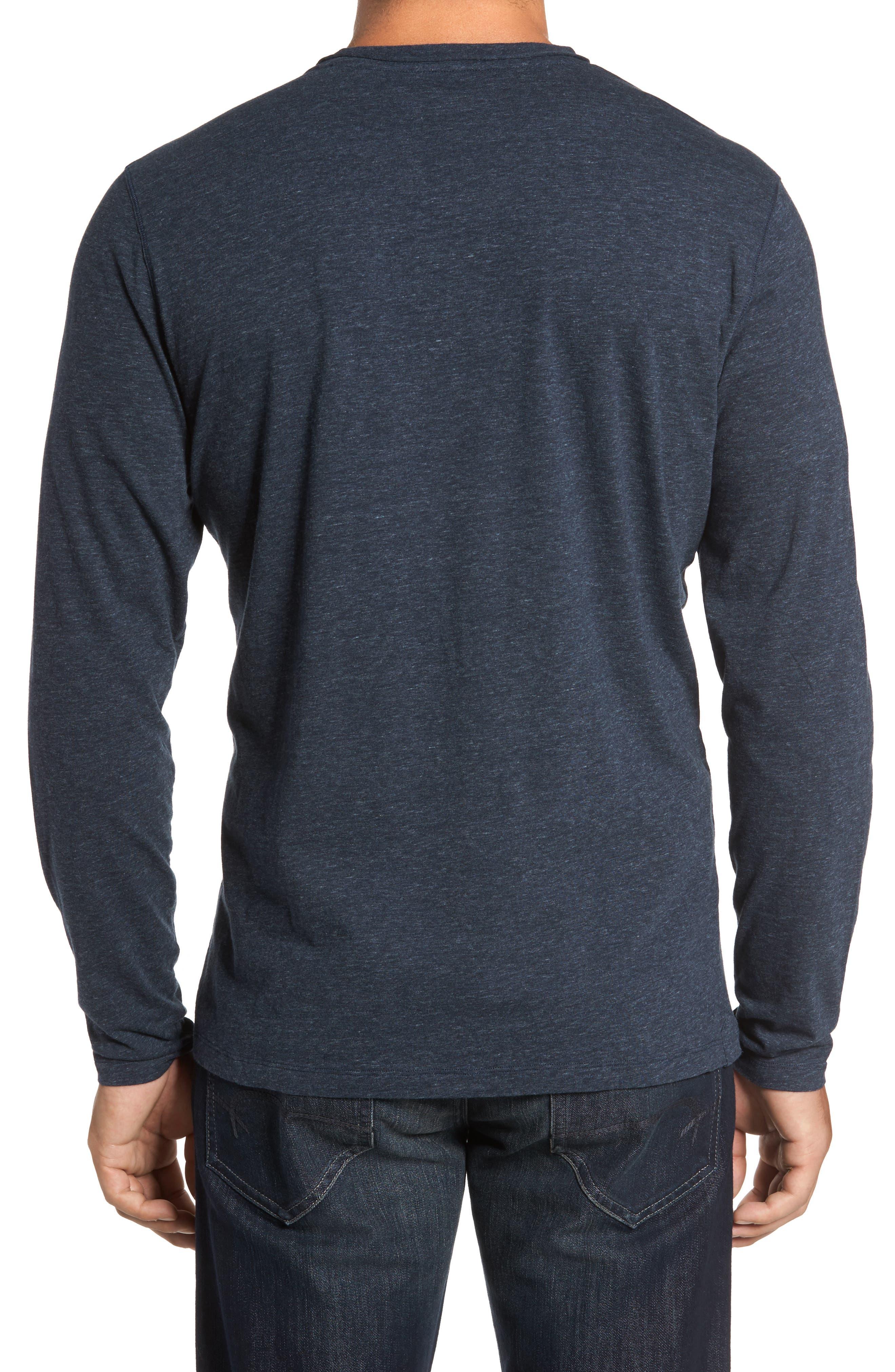 Flynn V-Neck T-Shirt,                             Alternate thumbnail 2, color,                             NAVY