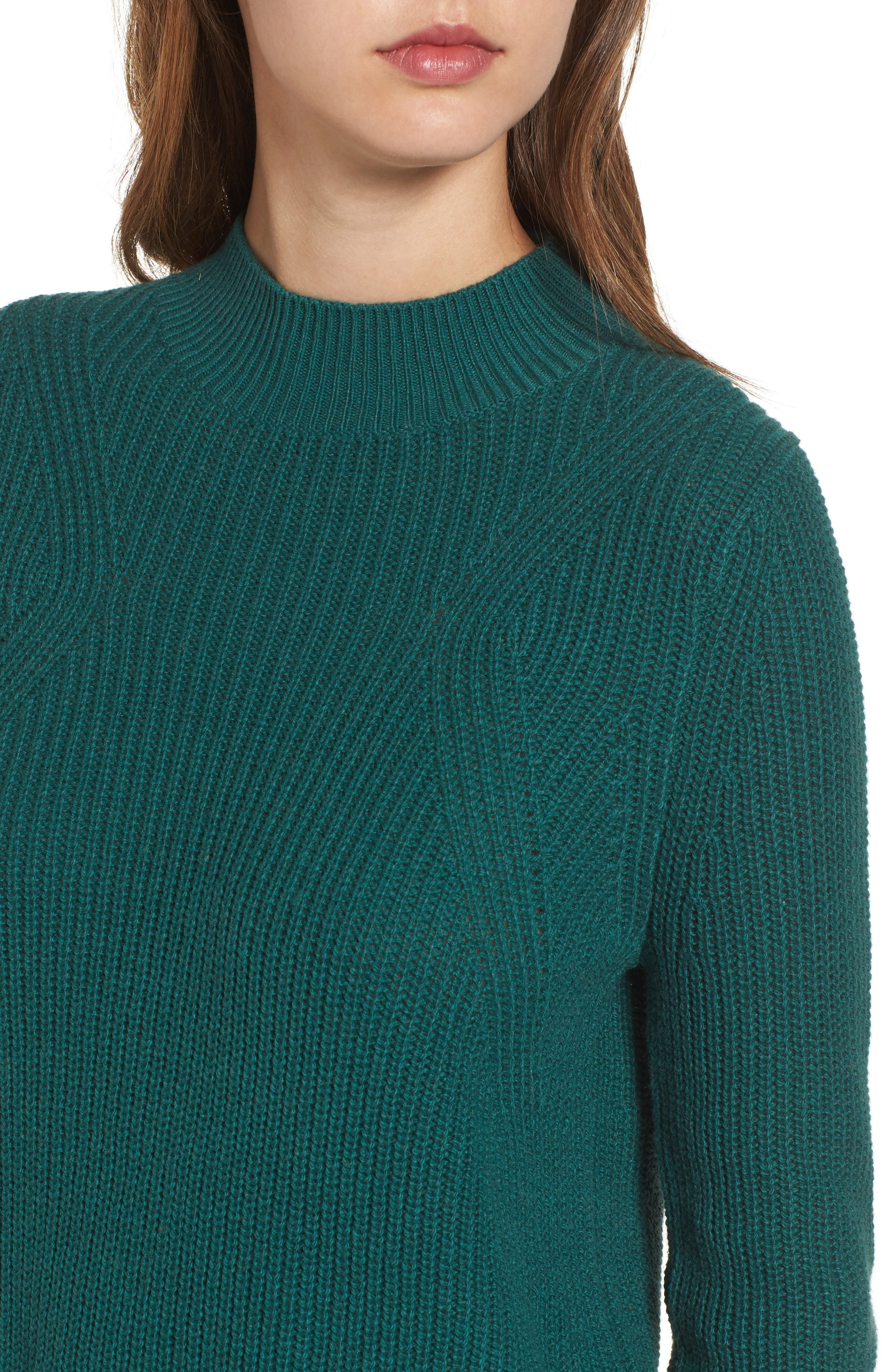 Mock Neck Tunic Sweater,                             Alternate thumbnail 25, color,