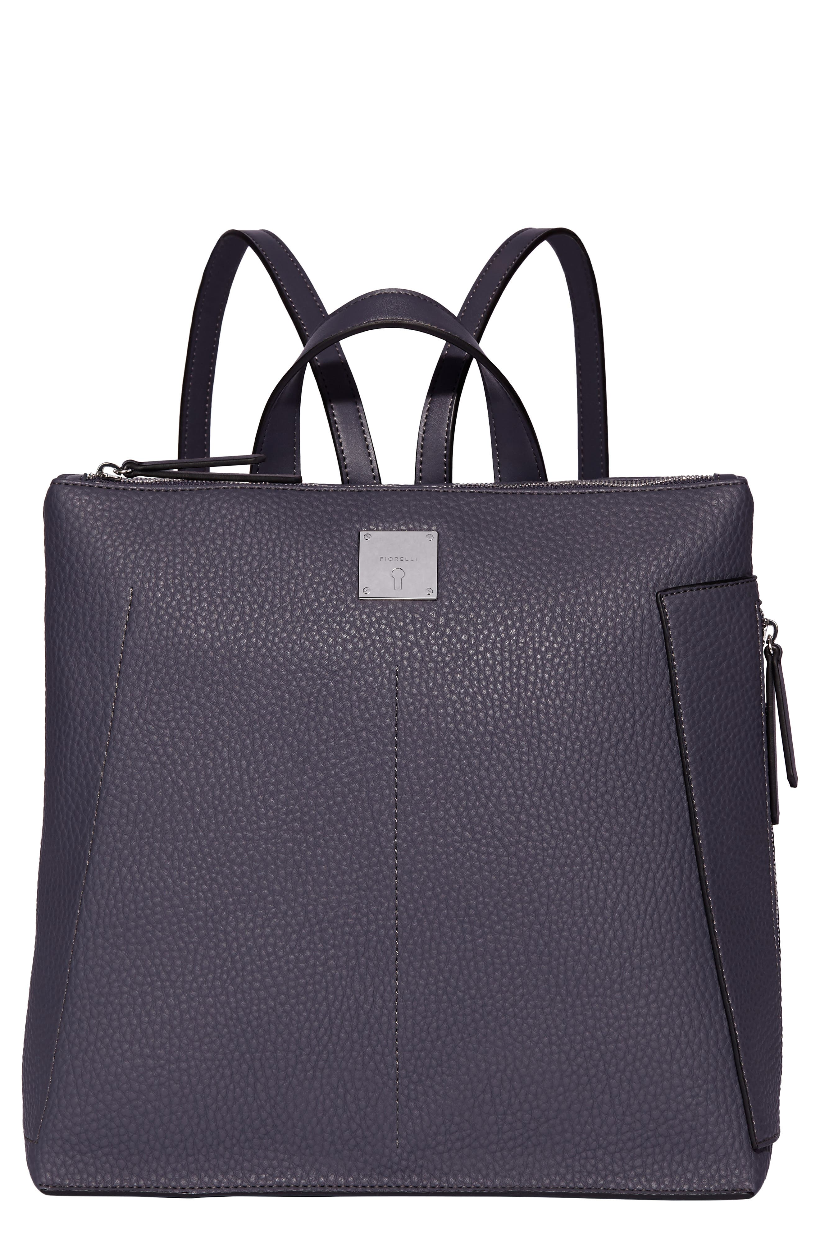 Finley Faux Leather Backpack,                         Main,                         color, FENCHURCH BLUE